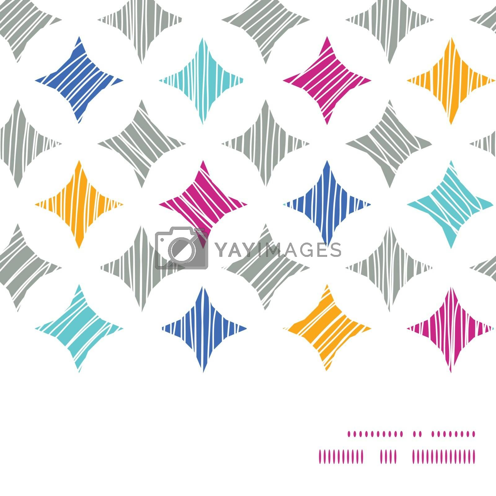 Vector colorful marble textured tiles horizontal frame seamless pattern background graphic design