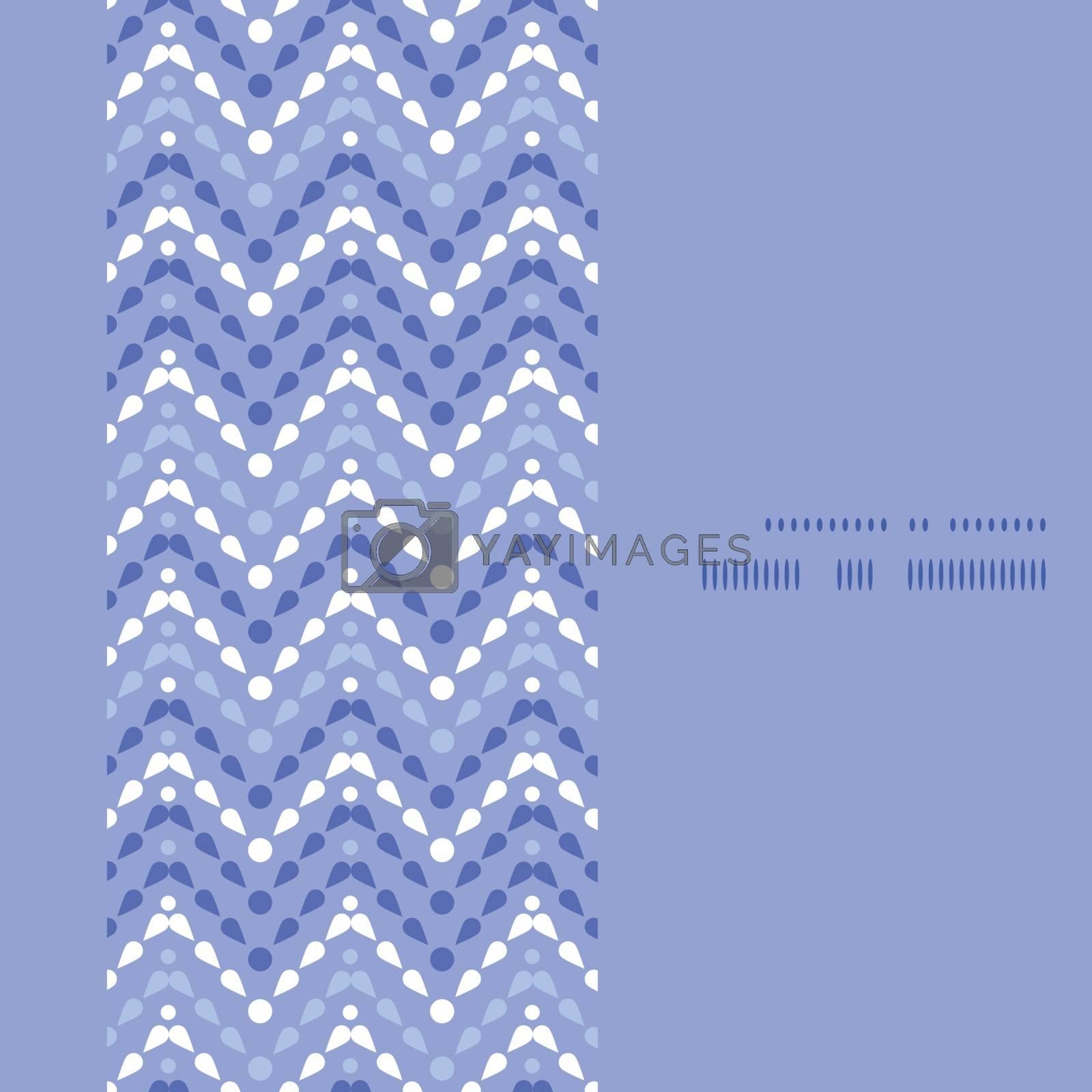 Vector purple drops chevron vertical frame seamless pattern background graphic design