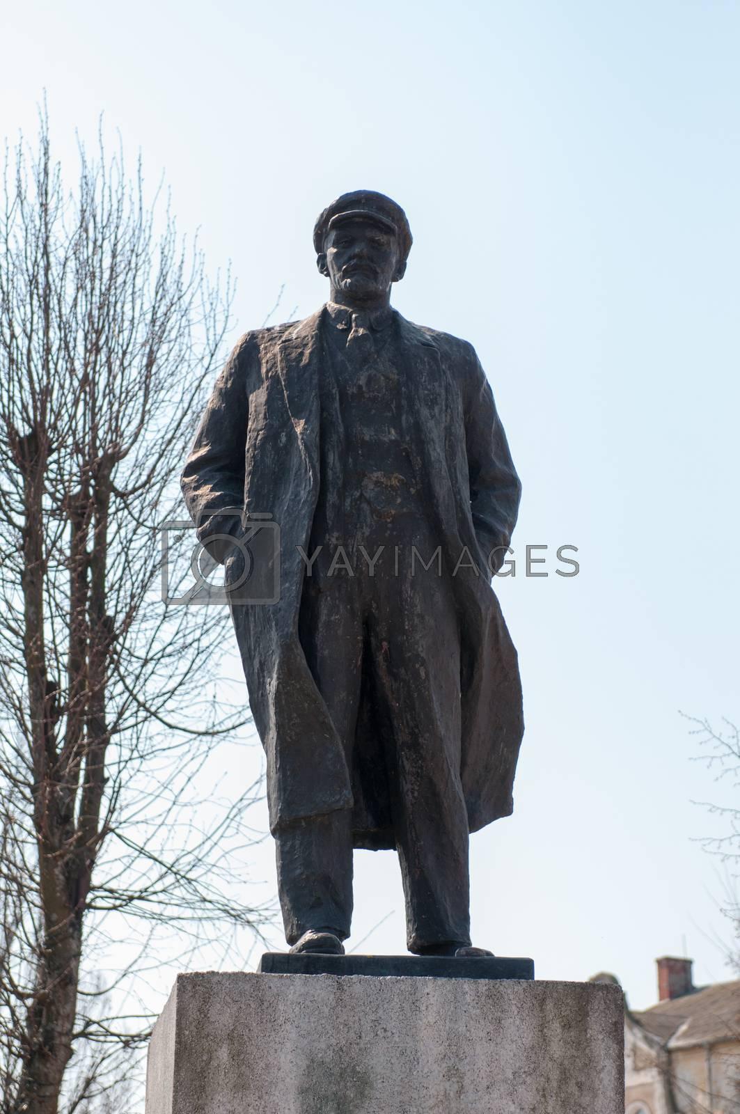 Monument to Lenin. Kaliningrad region. Russia. Revolutionary and communist leader.