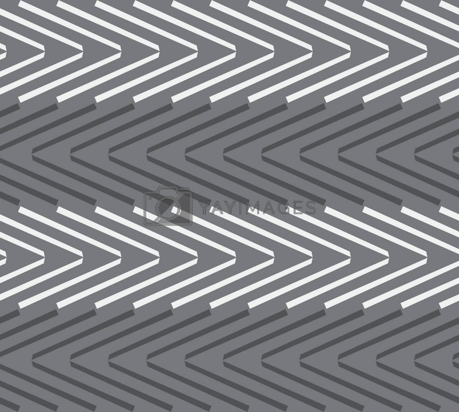 Seamless stylish geometric background. Modern abstract pattern. Flat monochrome design.Monochrome pattern with black and white chevrons.
