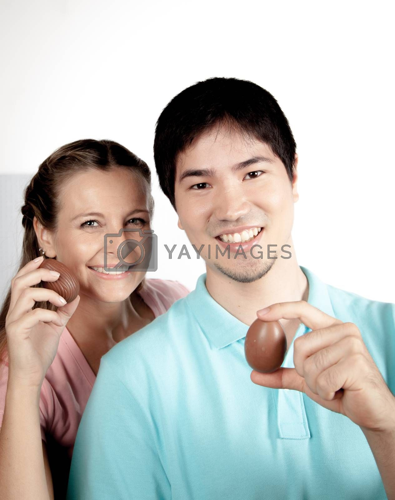 couple with easter eggs by ifilms