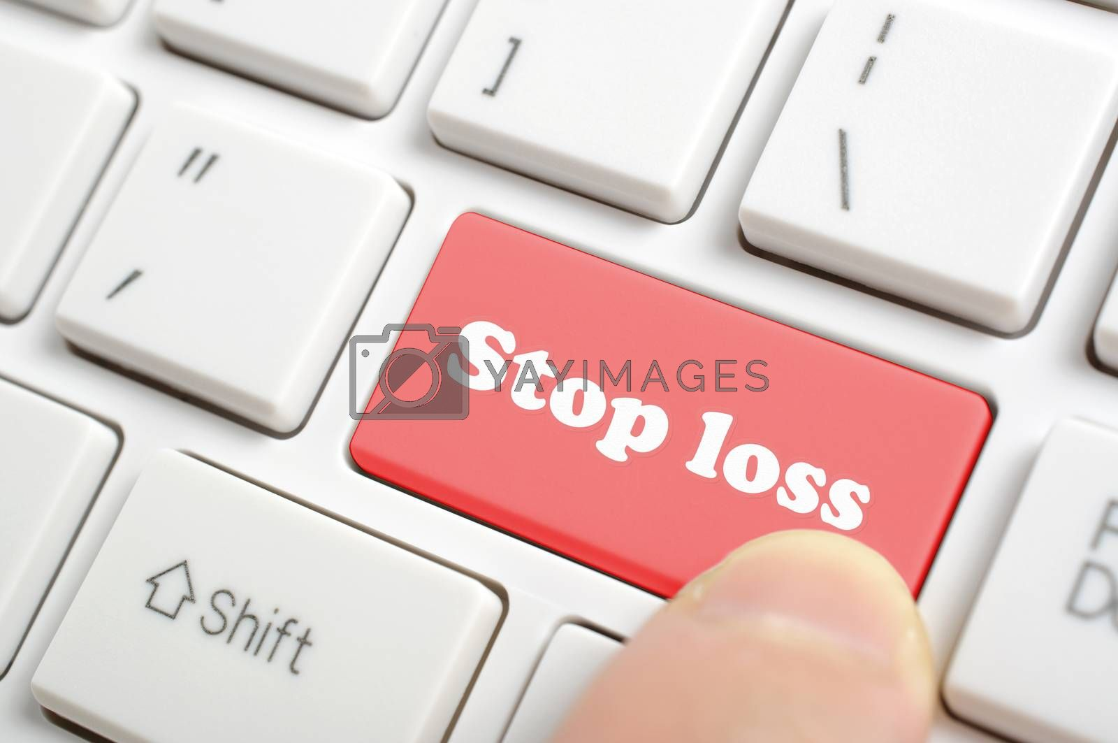 Pressing red stop loss key on keyboard