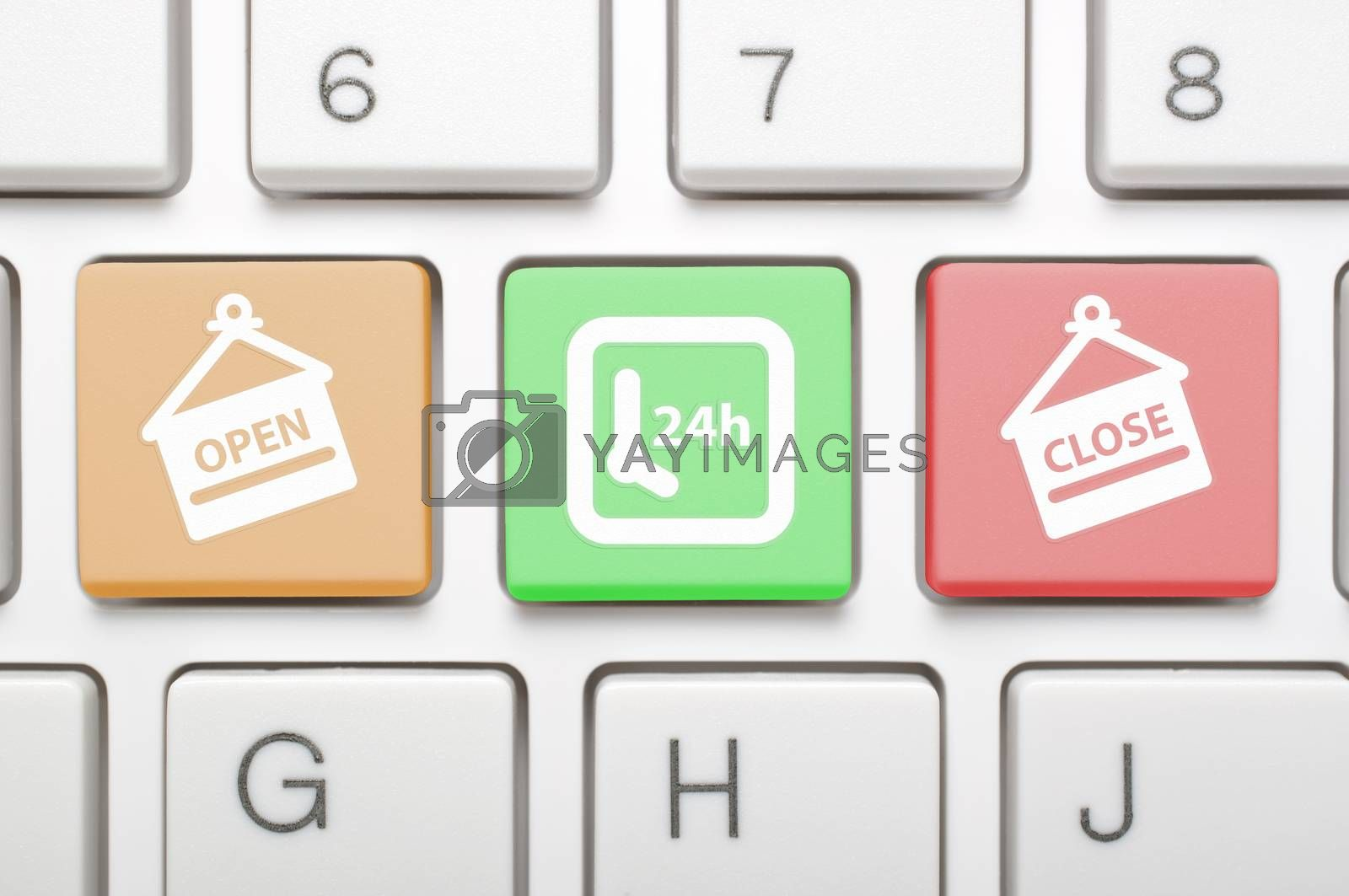 Open and close key on keyboard
