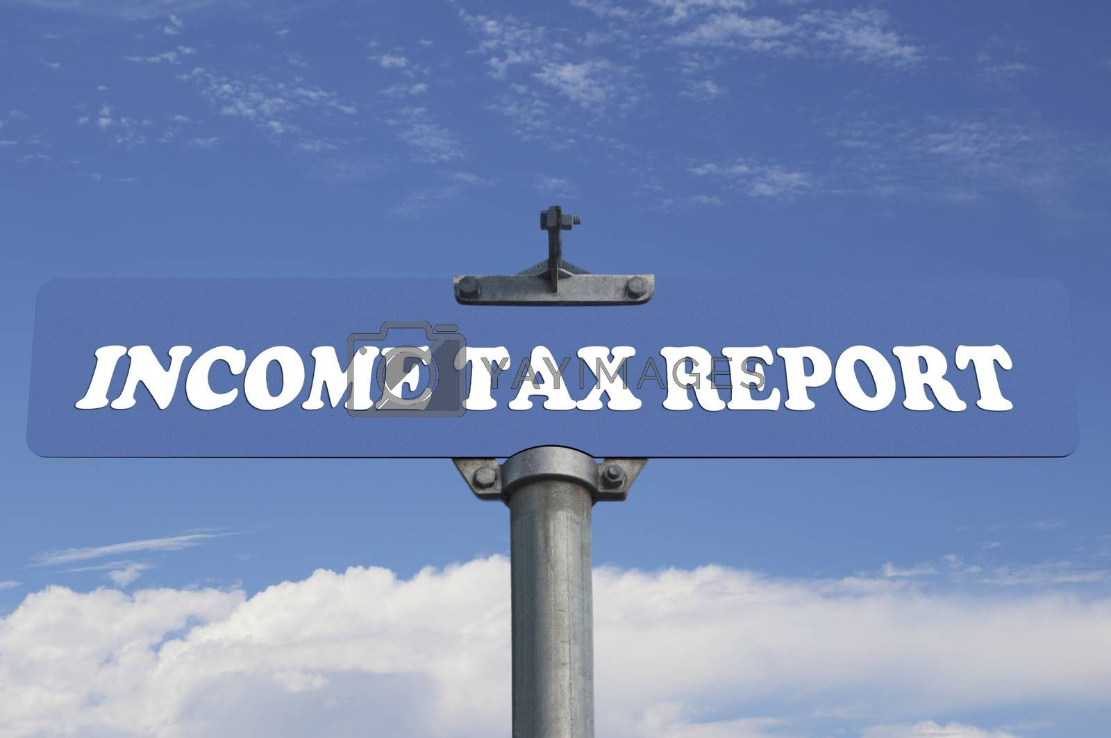 Income tax report road sign
