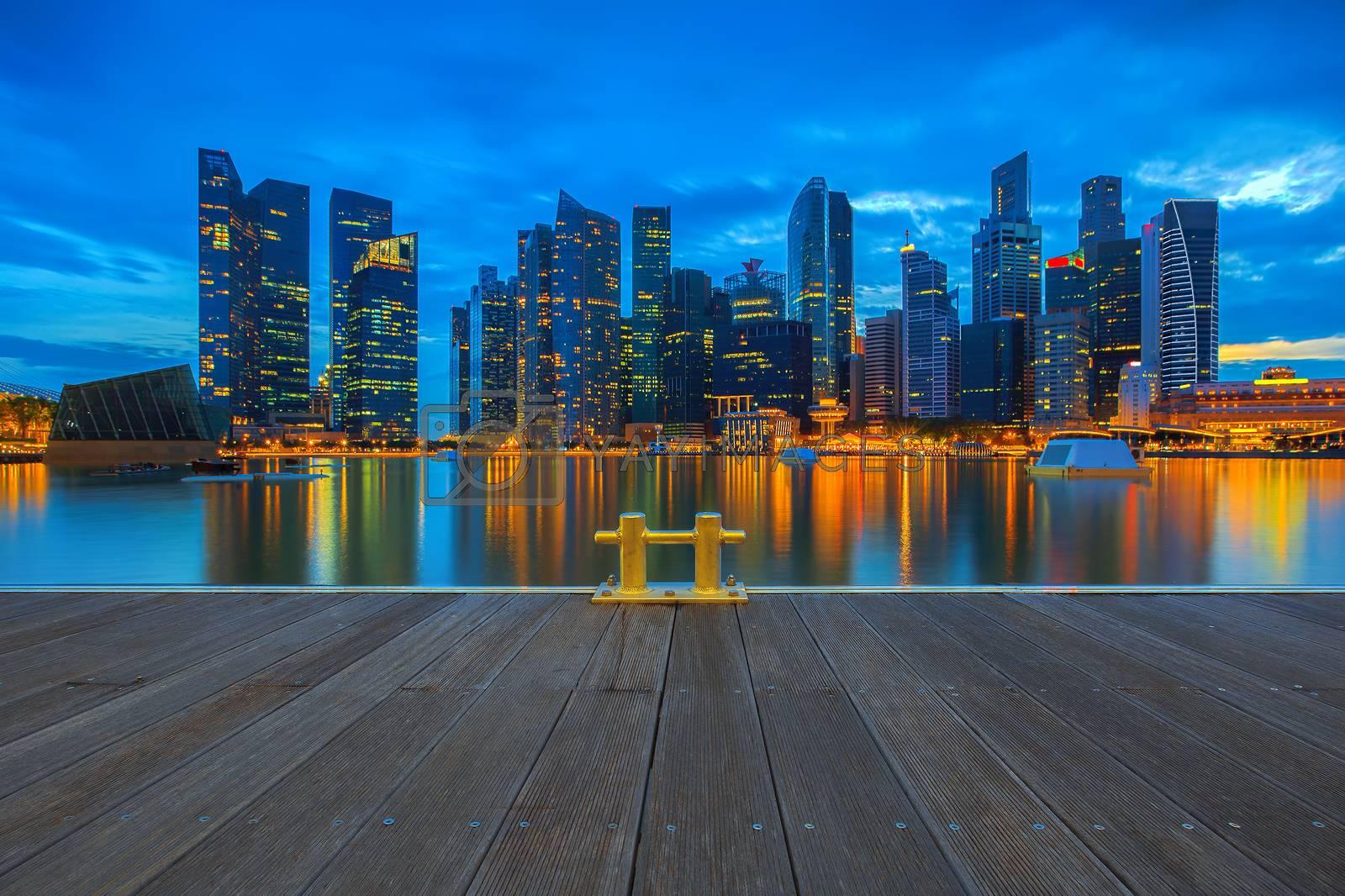 Singapore Skyline by kjorgen