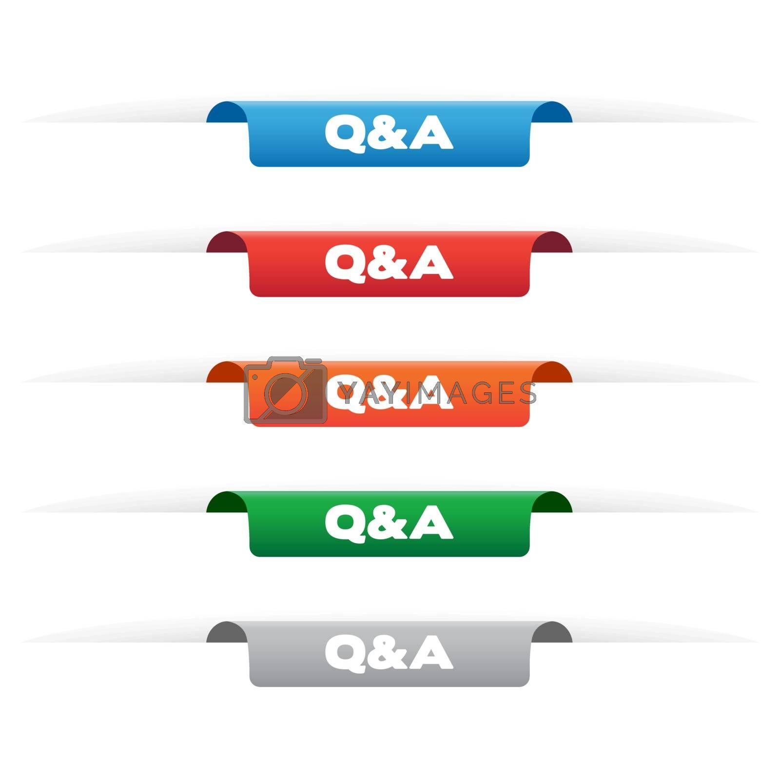 Royalty free image of Q&A paper tag labels by simo988