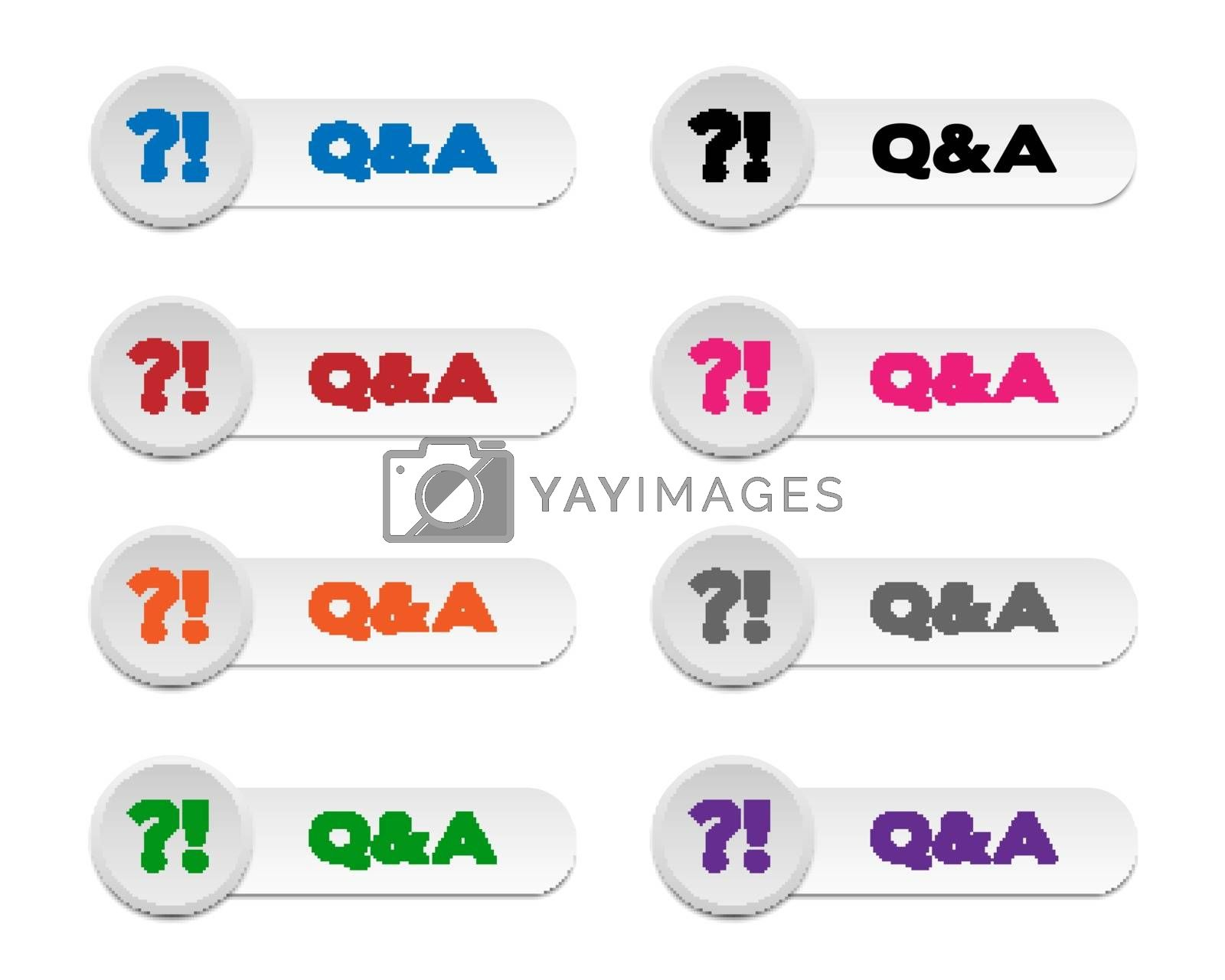 Royalty free image of Q&A buttons by simo988