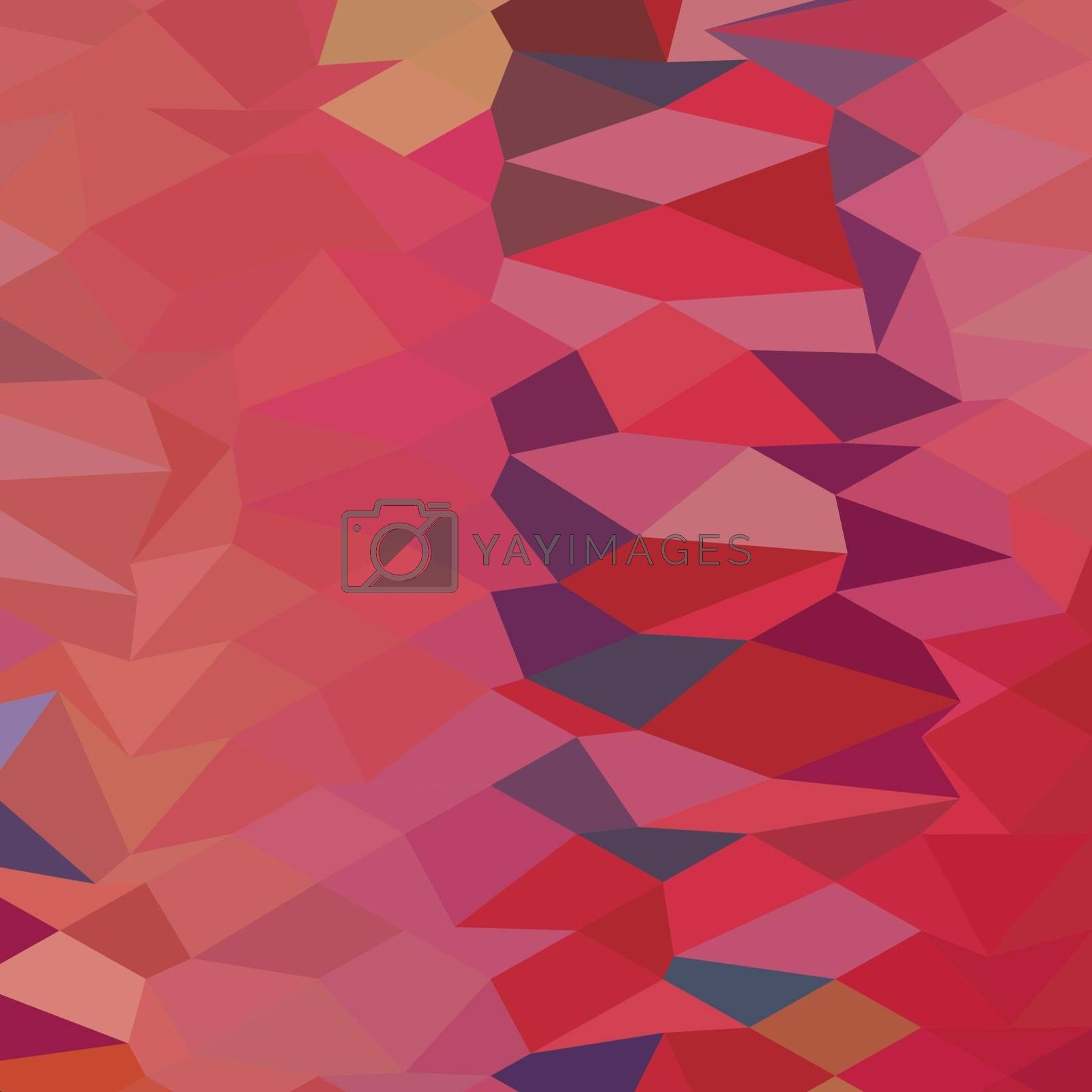 Low polygon style illustration of a carmine pink abstract background.