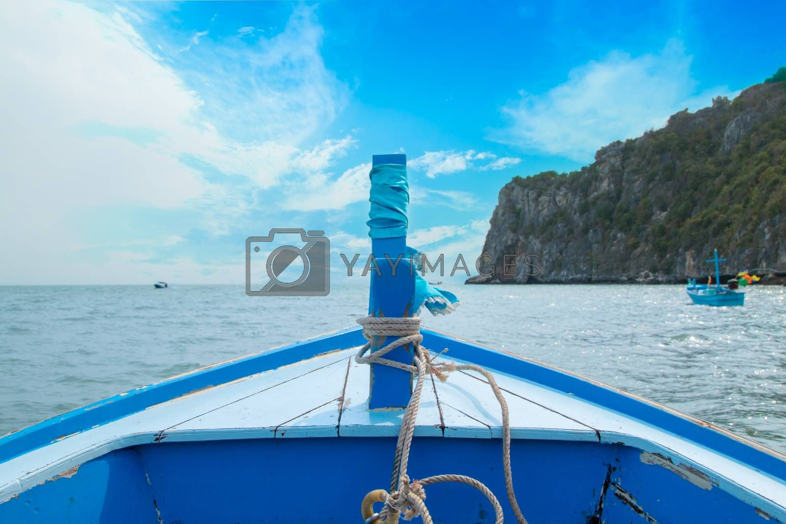 Sea and clouds, beautiful view from the boat of the sea. Thailand