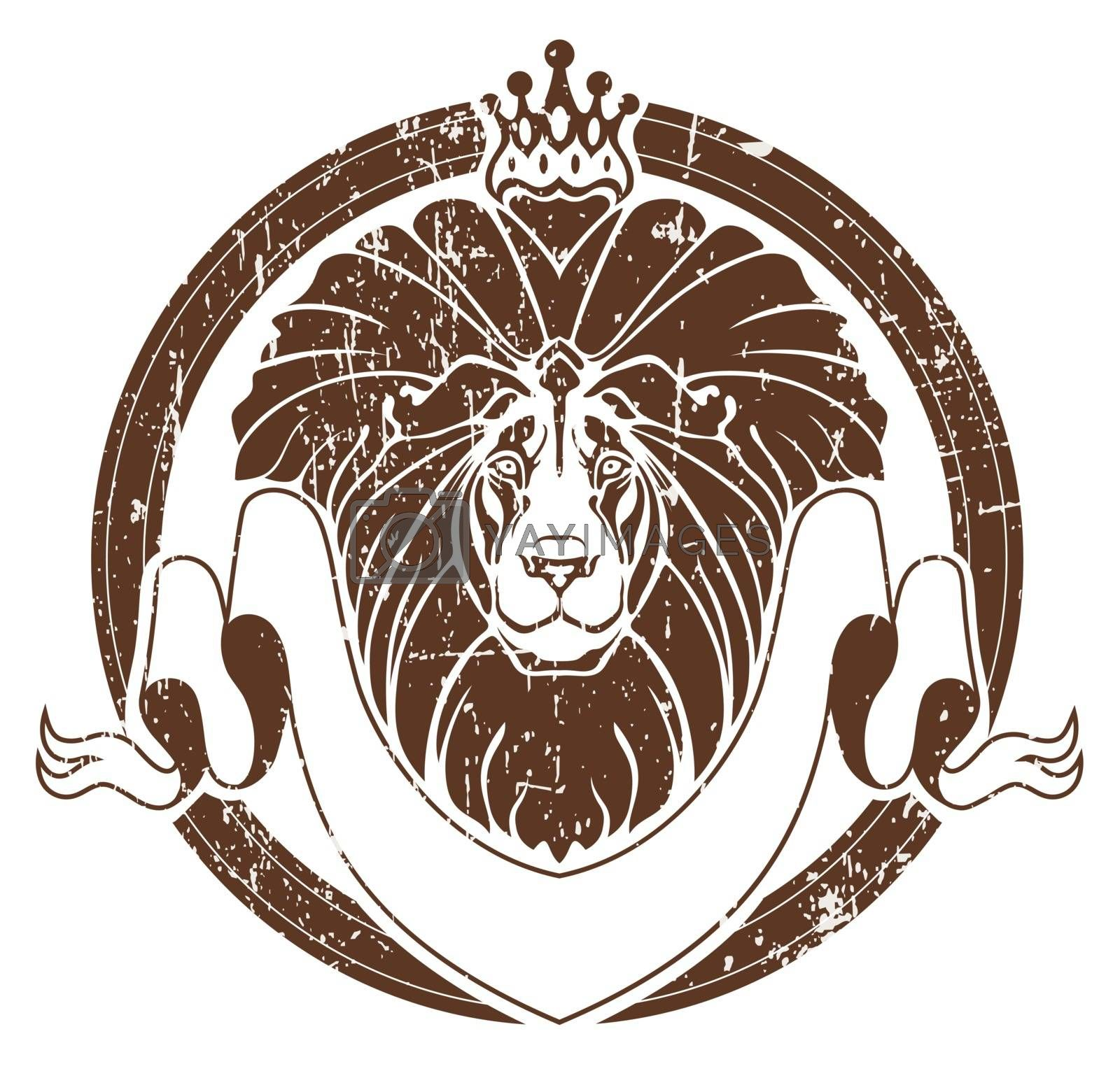Lion with crown as emblem