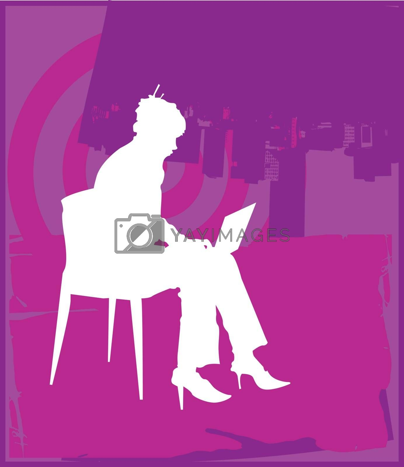 Female Laptop Purple