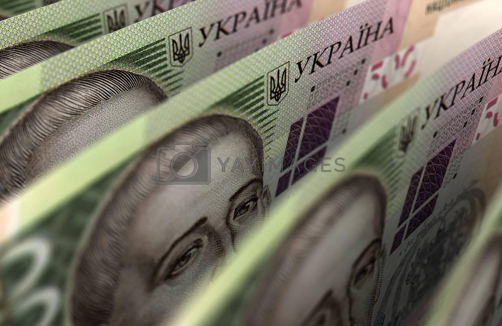 Ukrainian Hryvnia Closeup