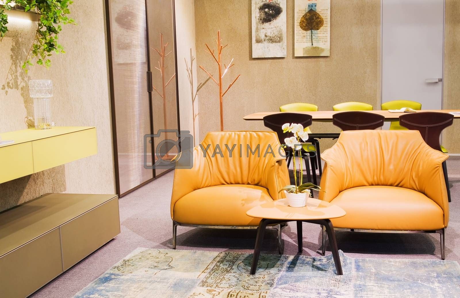 interior, beautiful loft, modern furniture