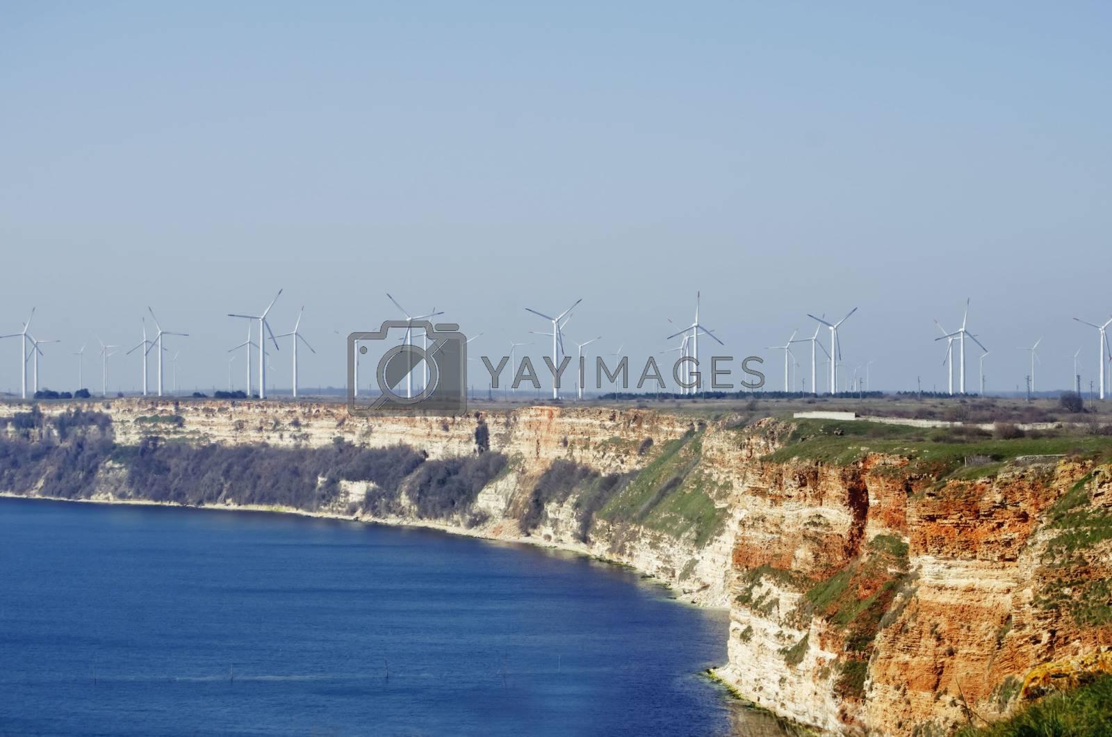 Windmills at Black Sea Coastline by razvodovska