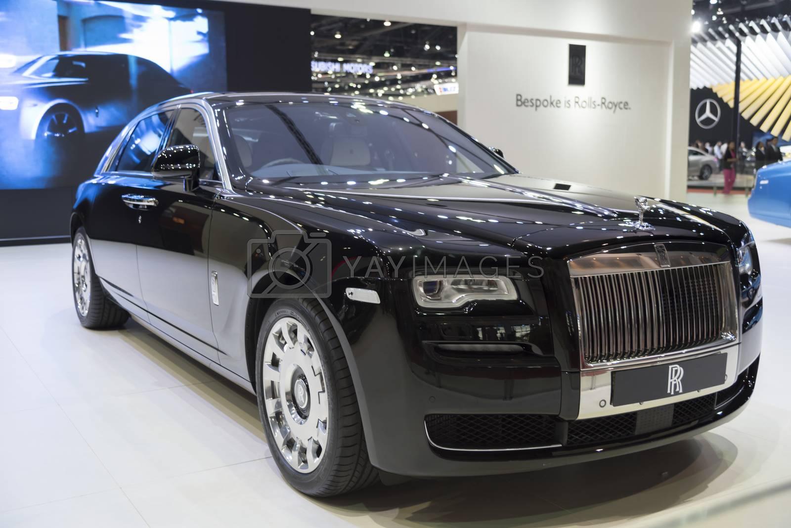 BANGKOK,THAILAND - APRIL 4 :New Classical car brand Rolls-Royce  by ammza12