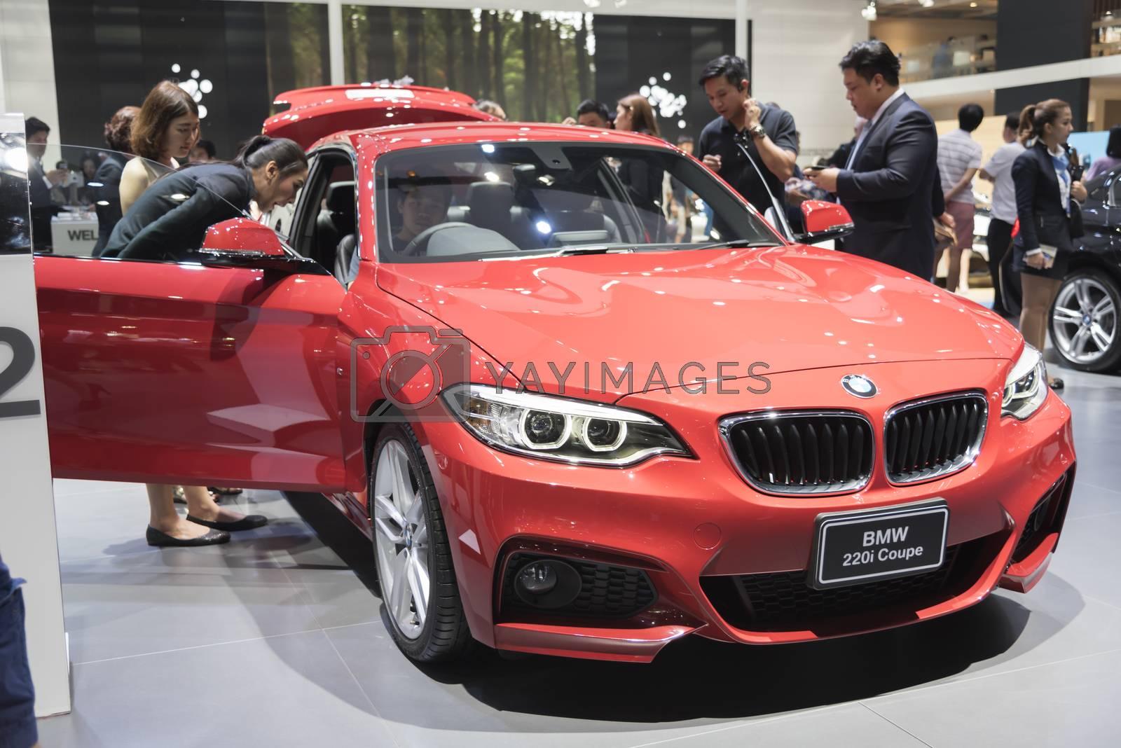 BANGKOK,THAILAND - APRIL 4 : BMW car on April 4,2015 at the 36th Bangkok international motor show in Thailand.
