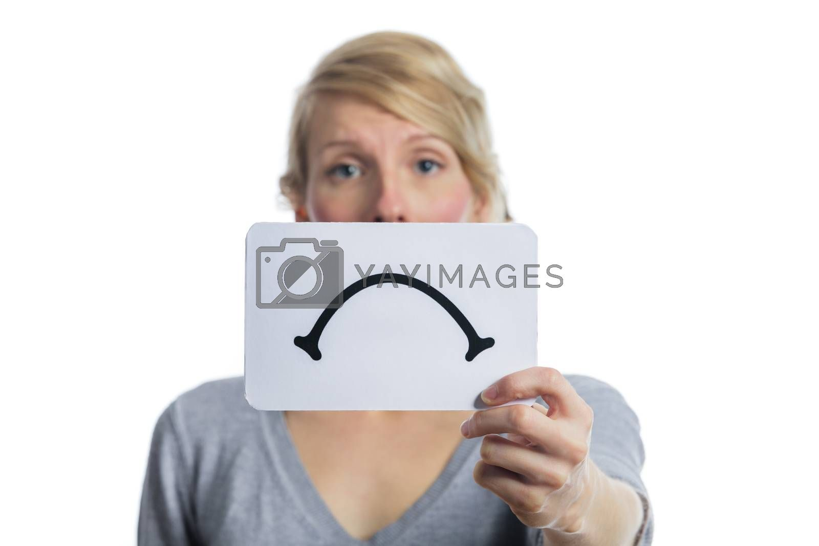 Unhappy Portrait of someone Holding a Sad Mood Board by aetb