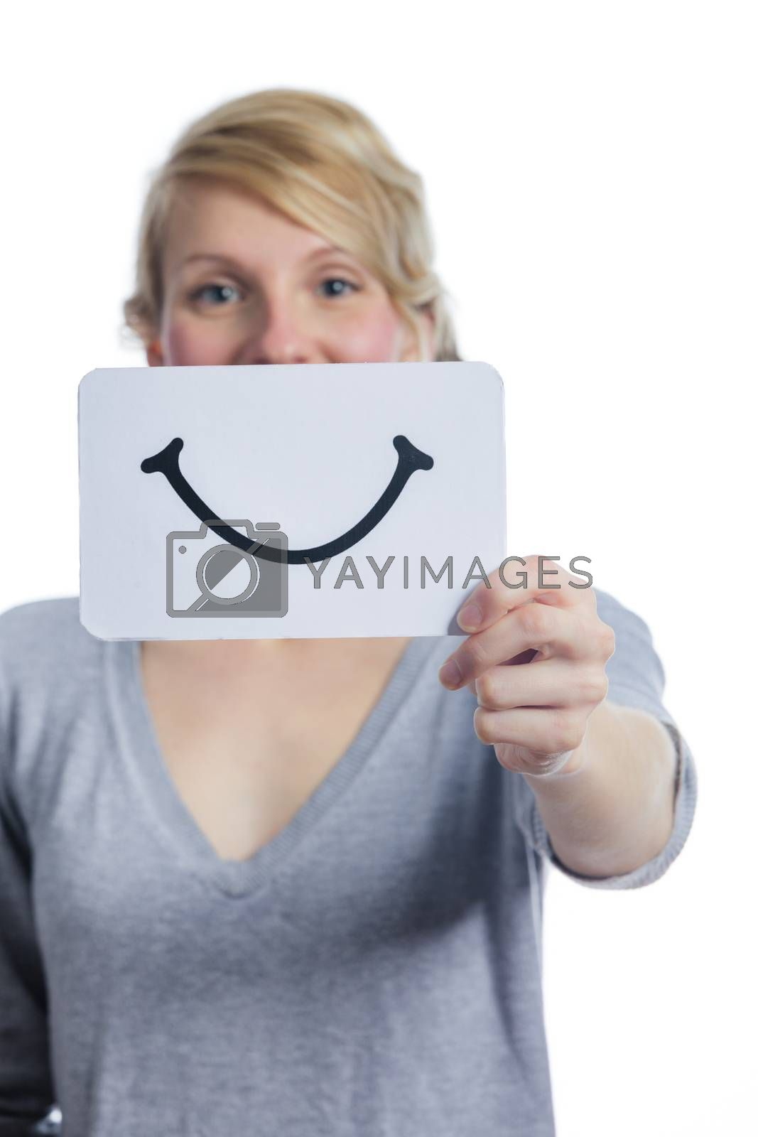 Happy Portrait of Someone Holding a Smiling Mood Board by aetb