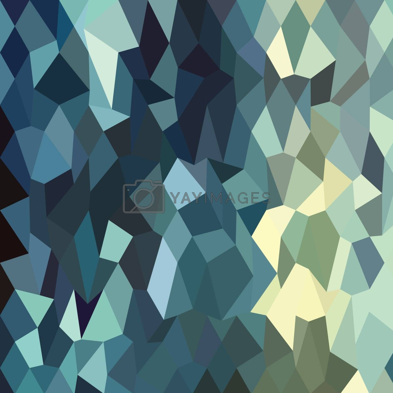 Low polygon style illustration of a catalina blue abstract geometric background.