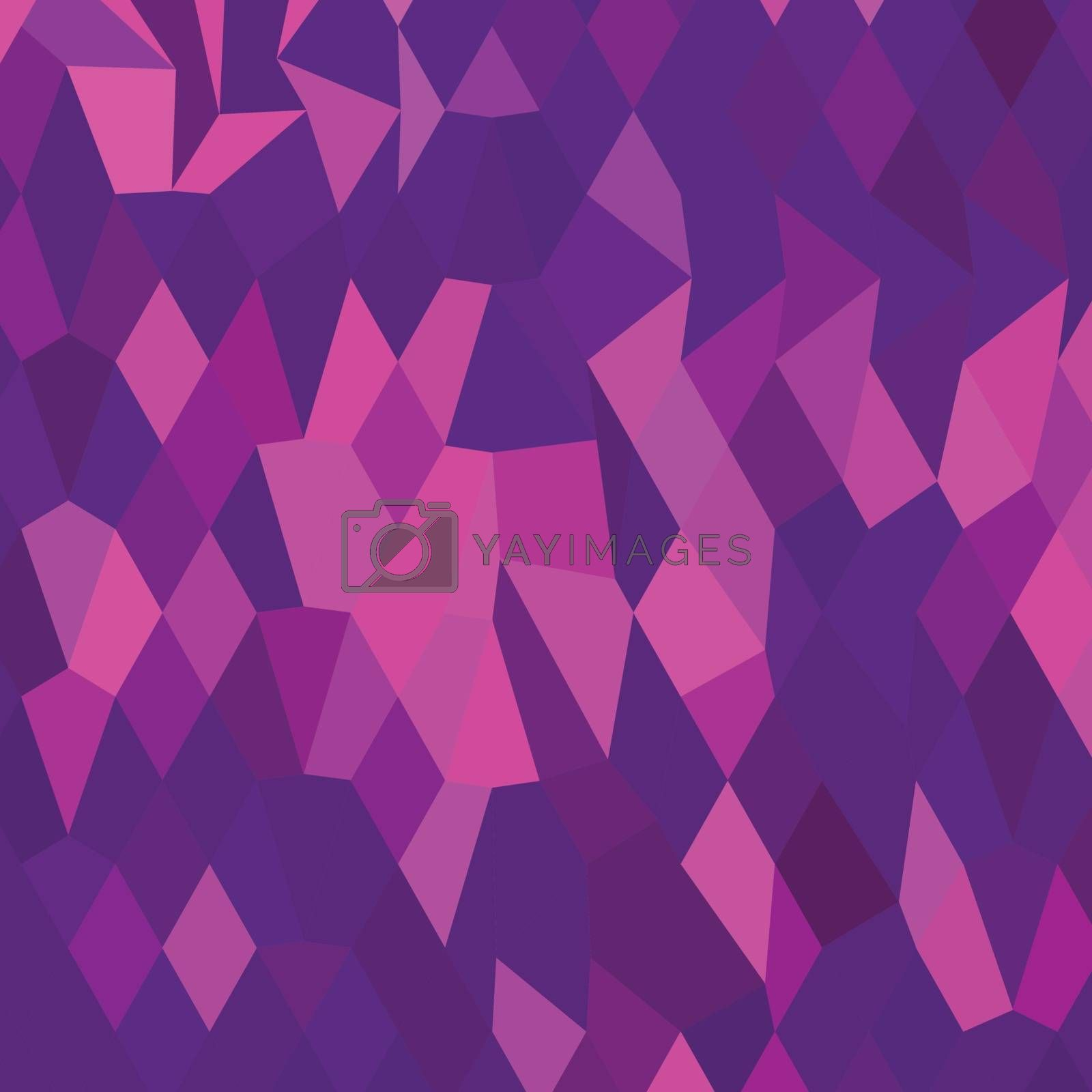 Low polygon style illustration of a thistle purple abstract geometric background.