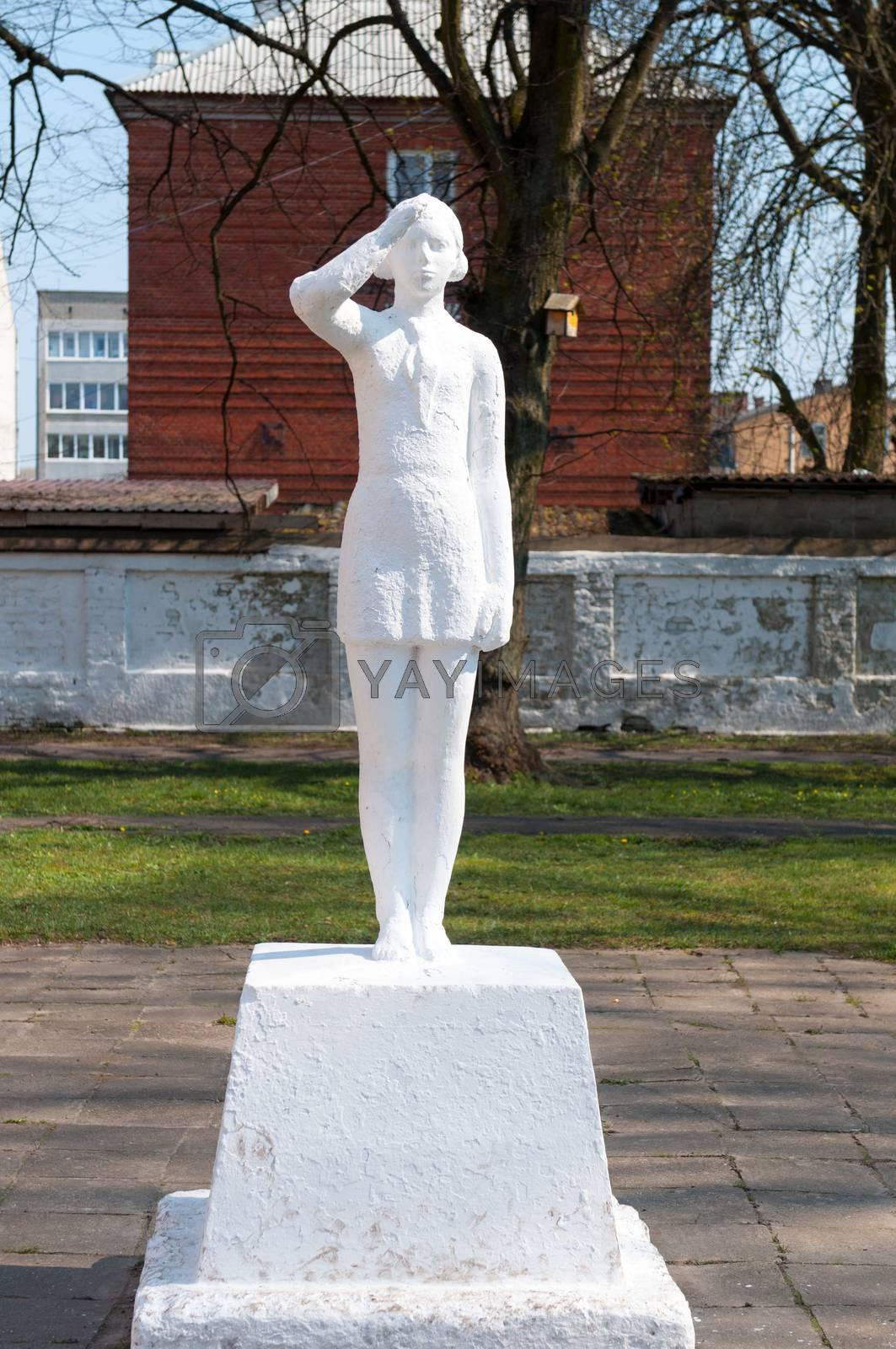 Kaliningrad region. Russia. Soviet pioneers sculpture.