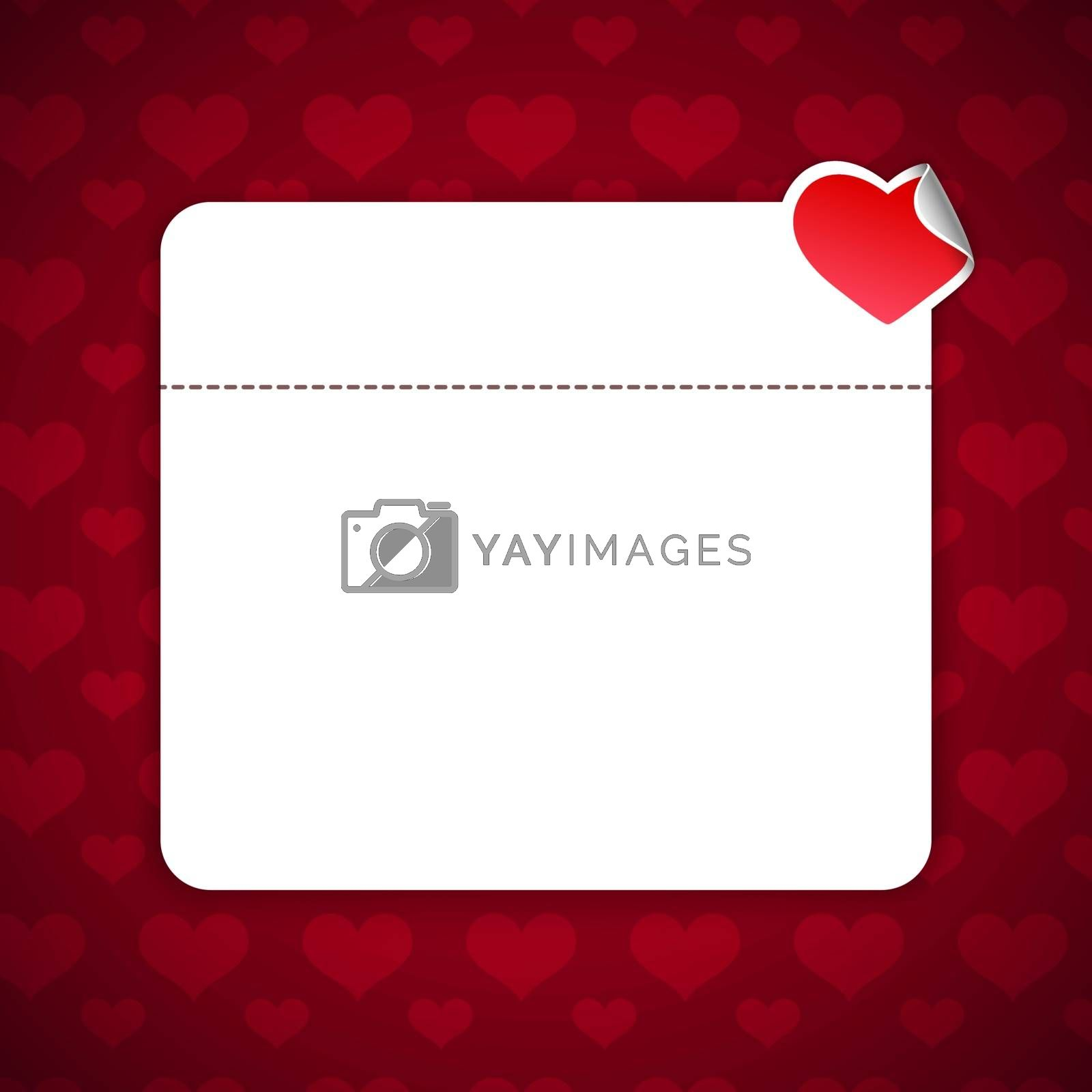 Valentines Day Background With Copy Space. Editable pattern in swatches.