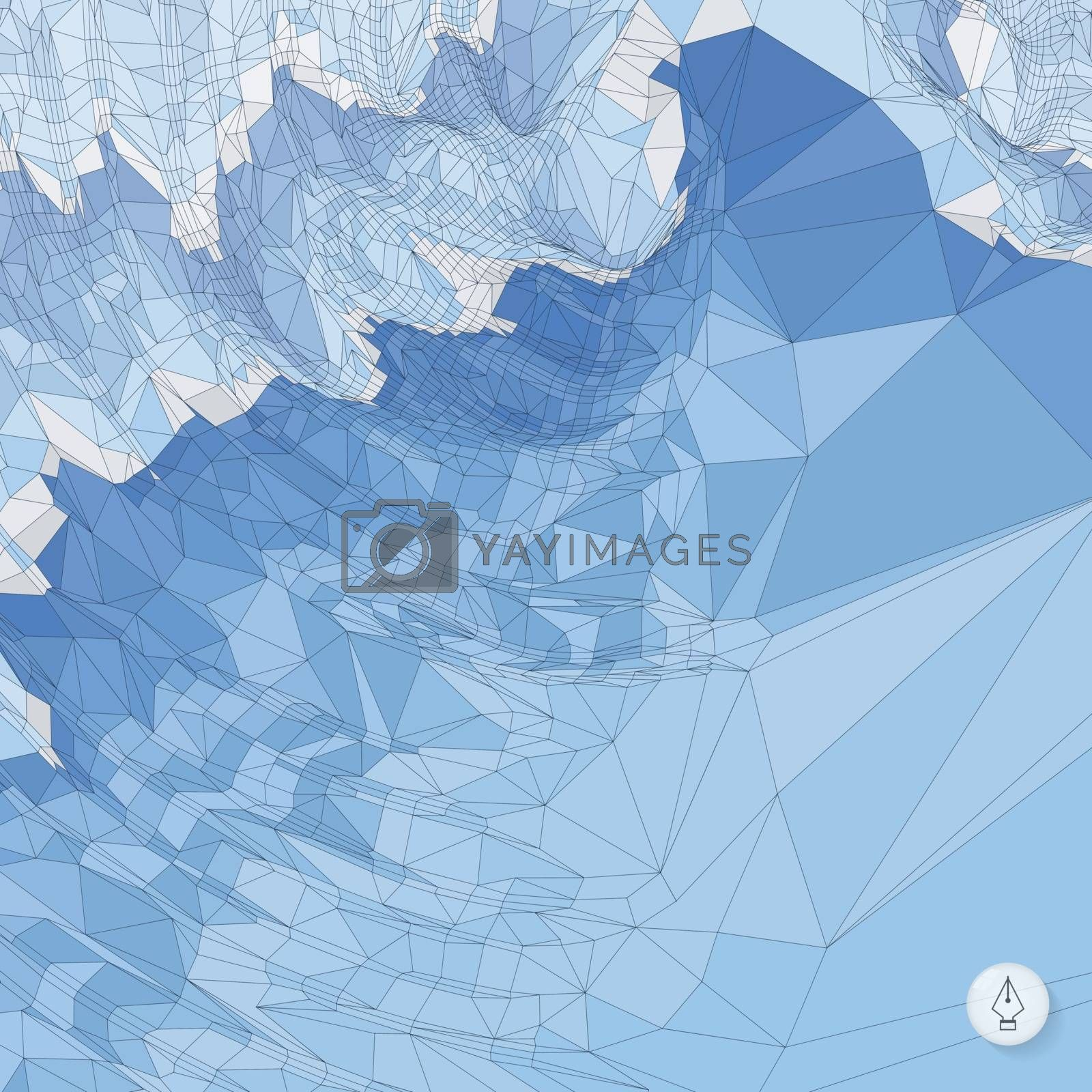 Abstract landscape background. Mosaic vector illustration. Can be used for wallpaper, web page background, web banners.