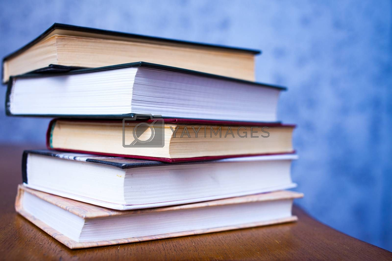 Royalty free image of stack of book by Astroid