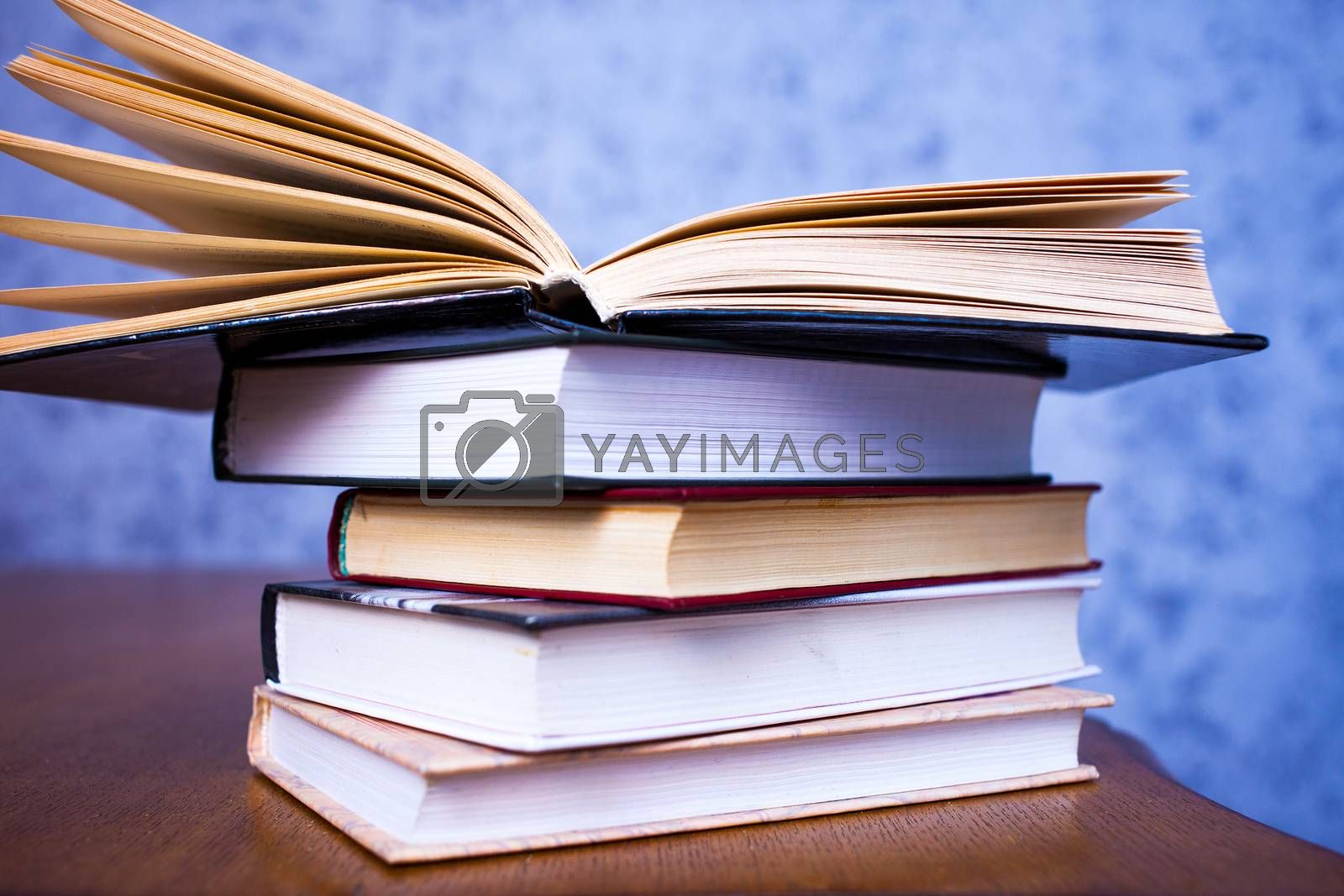 Royalty free image of Vintage books by Astroid
