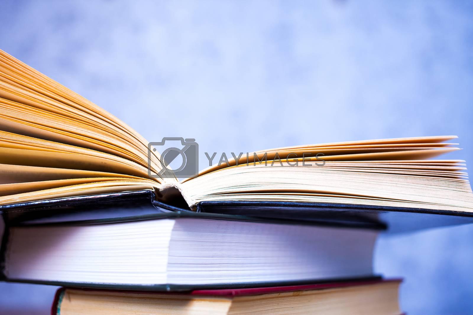 books in stacks