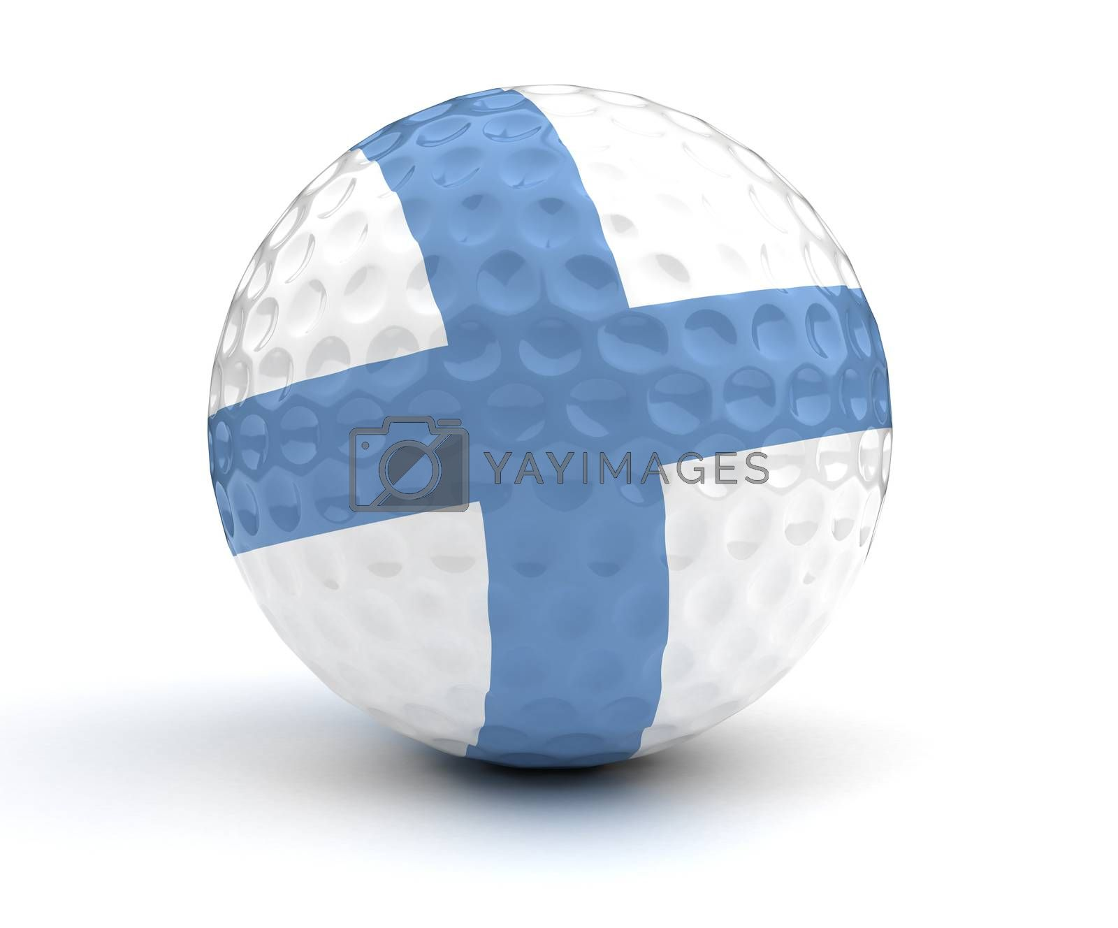 Finnish Golf Ball (Isolated with clipping path)
