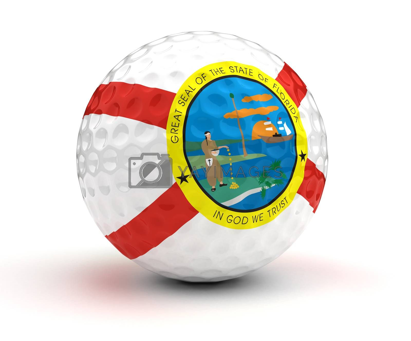 Filorida Golf Ball (Isolated with clipping path)
