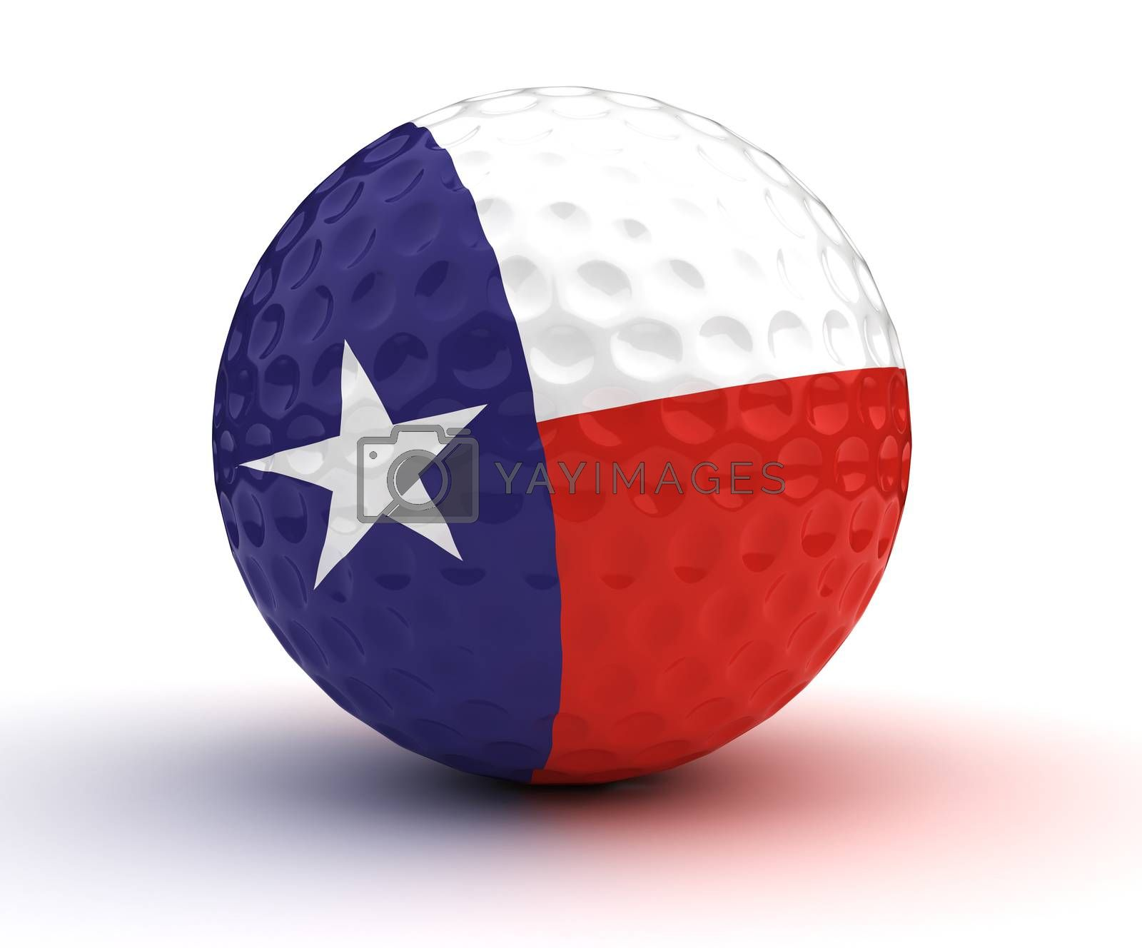 Texas Golf Ball (Isolated with clipping path)