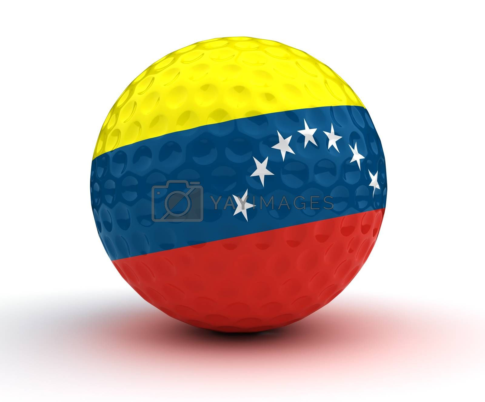 Venezuelan Golf Ball (Isolated with clipping path)