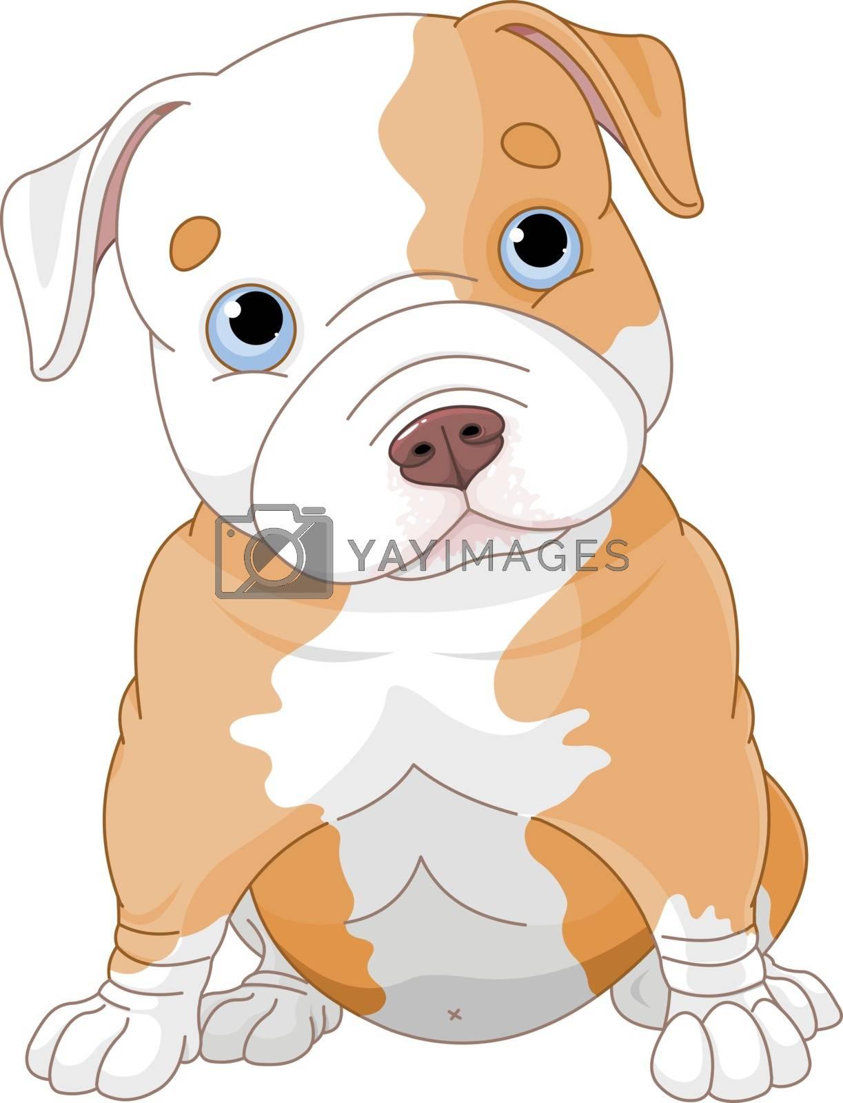 Royalty free image of Pitbull puppy by Dazdraperma