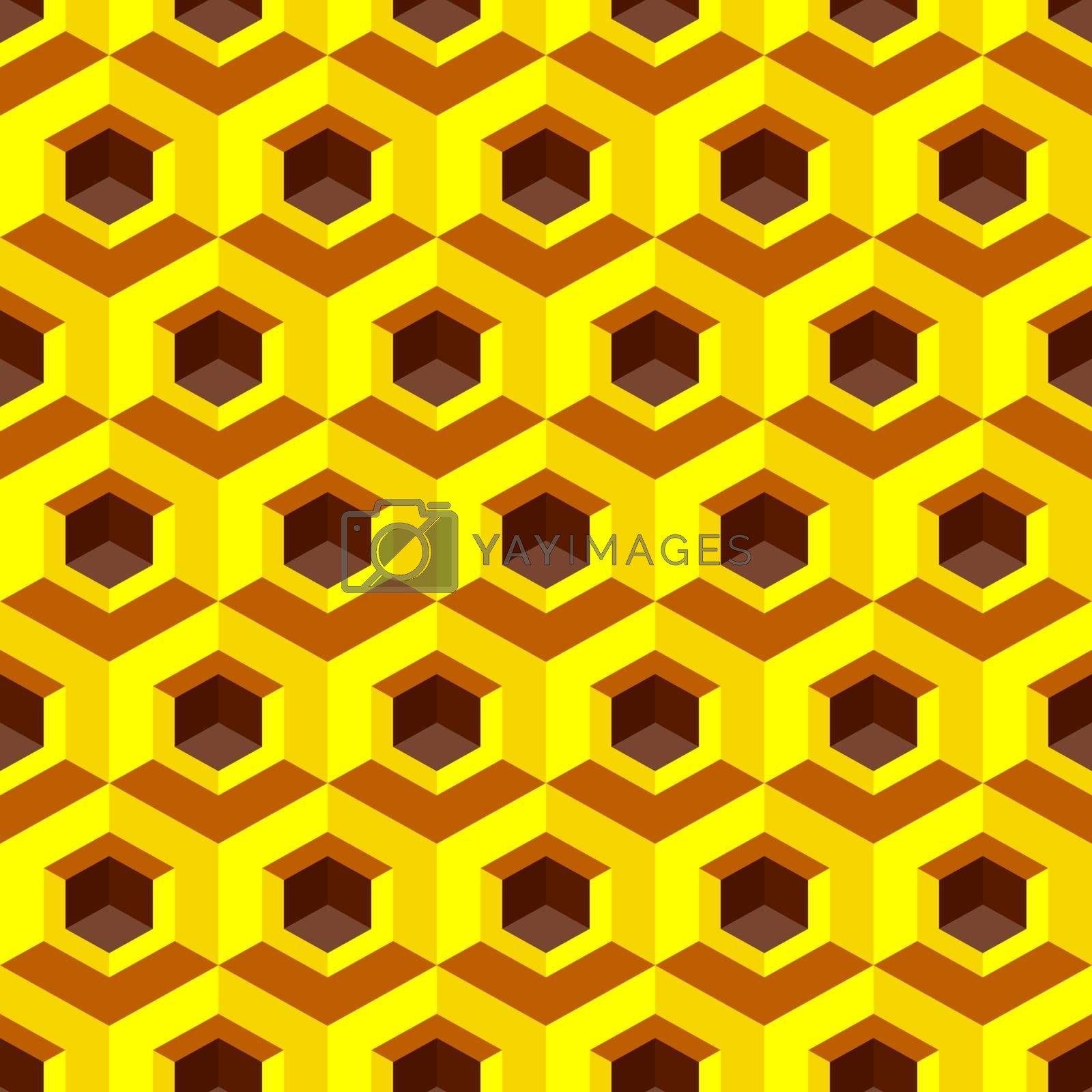 Honeycomb background 3d. Mosaic. Vector illustration. Can be used for wallpaper, web page background, web banners.