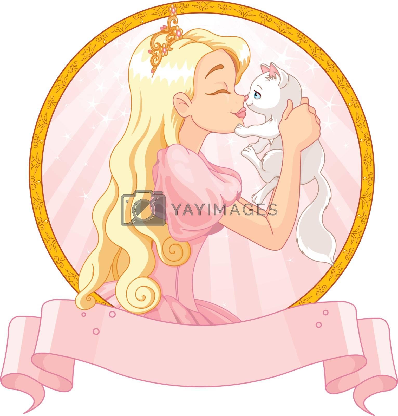 Royalty free image of Princess and Cat by Dazdraperma