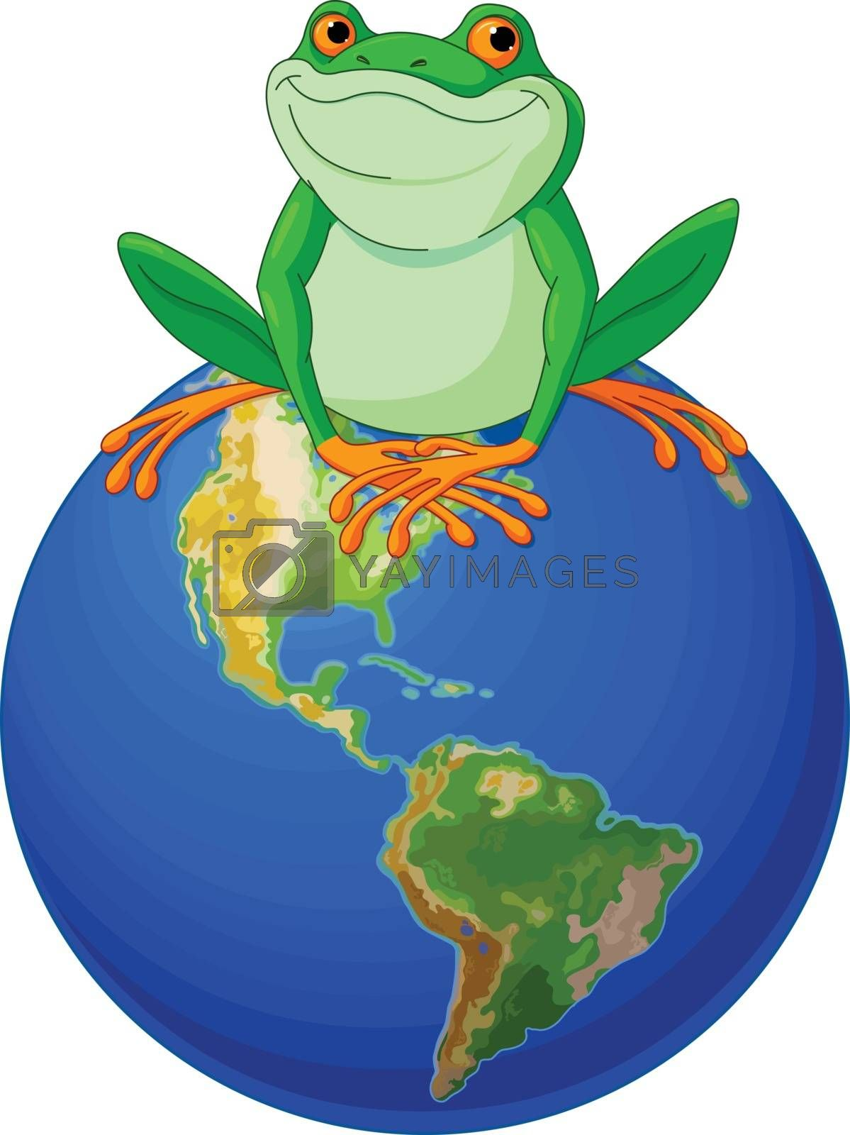 Royalty free image of Frog Earth Day by Dazdraperma