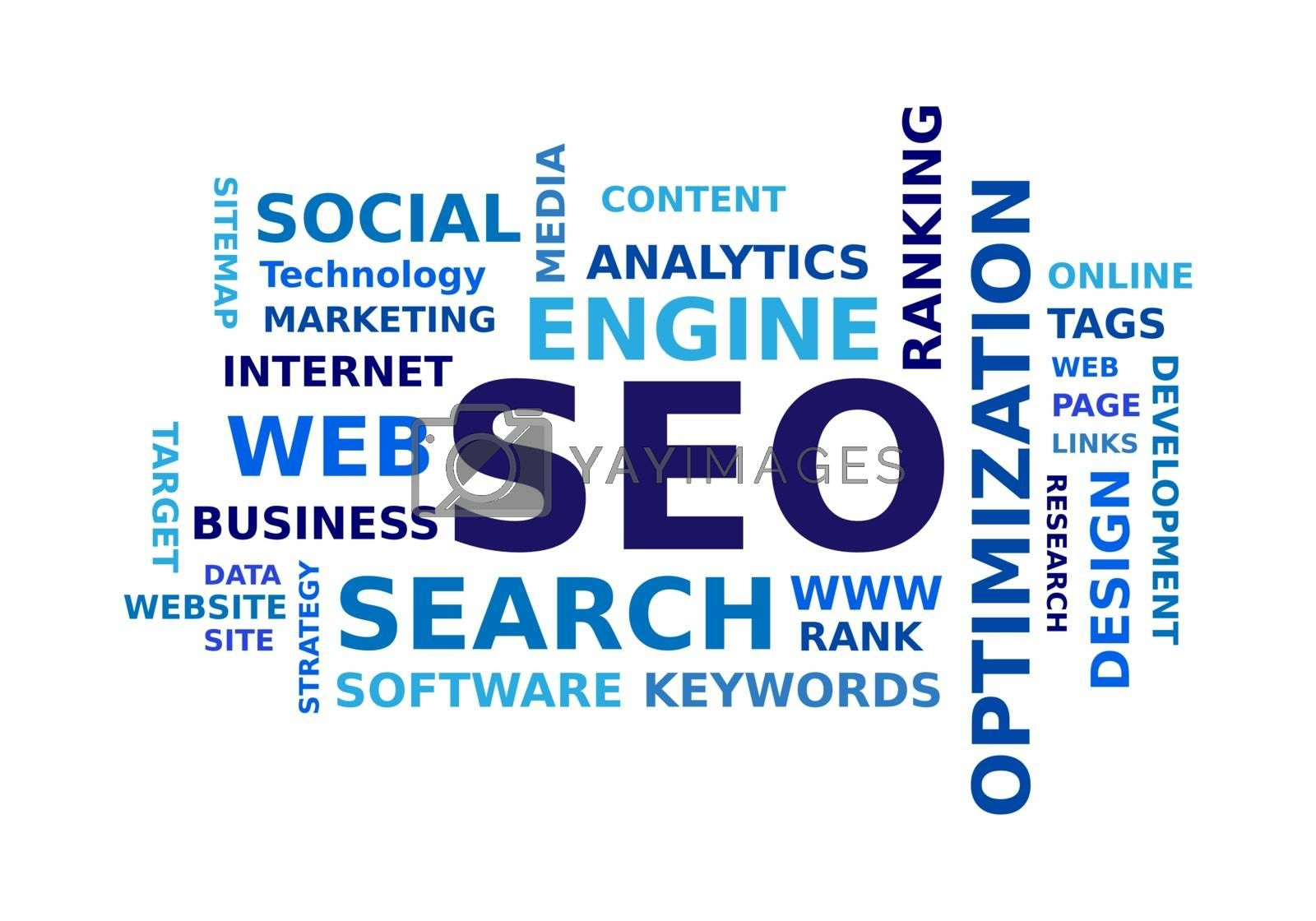 Royalty free image of SEO word cloud by simo988