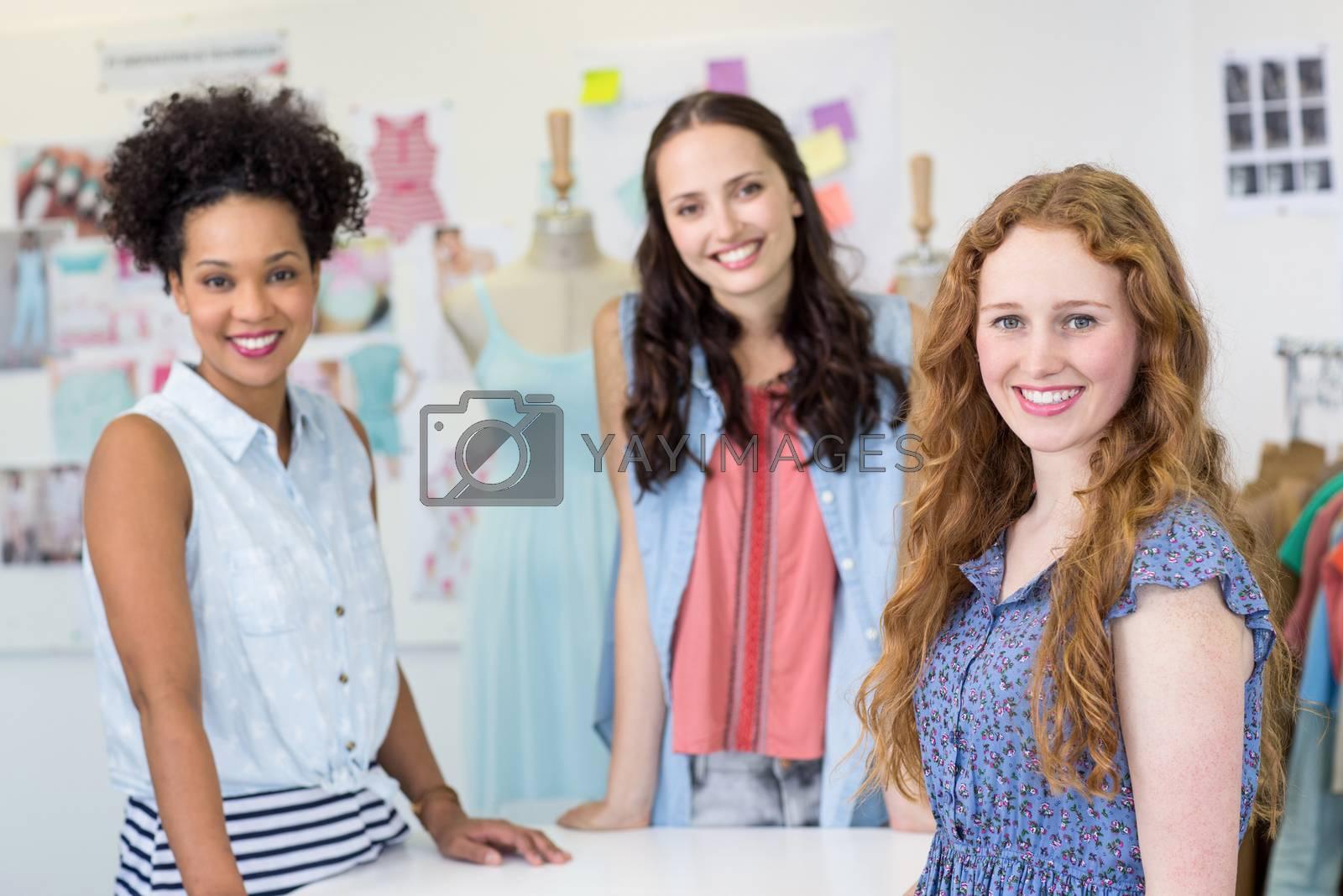 Portrait of confident and attractive female fashion designers