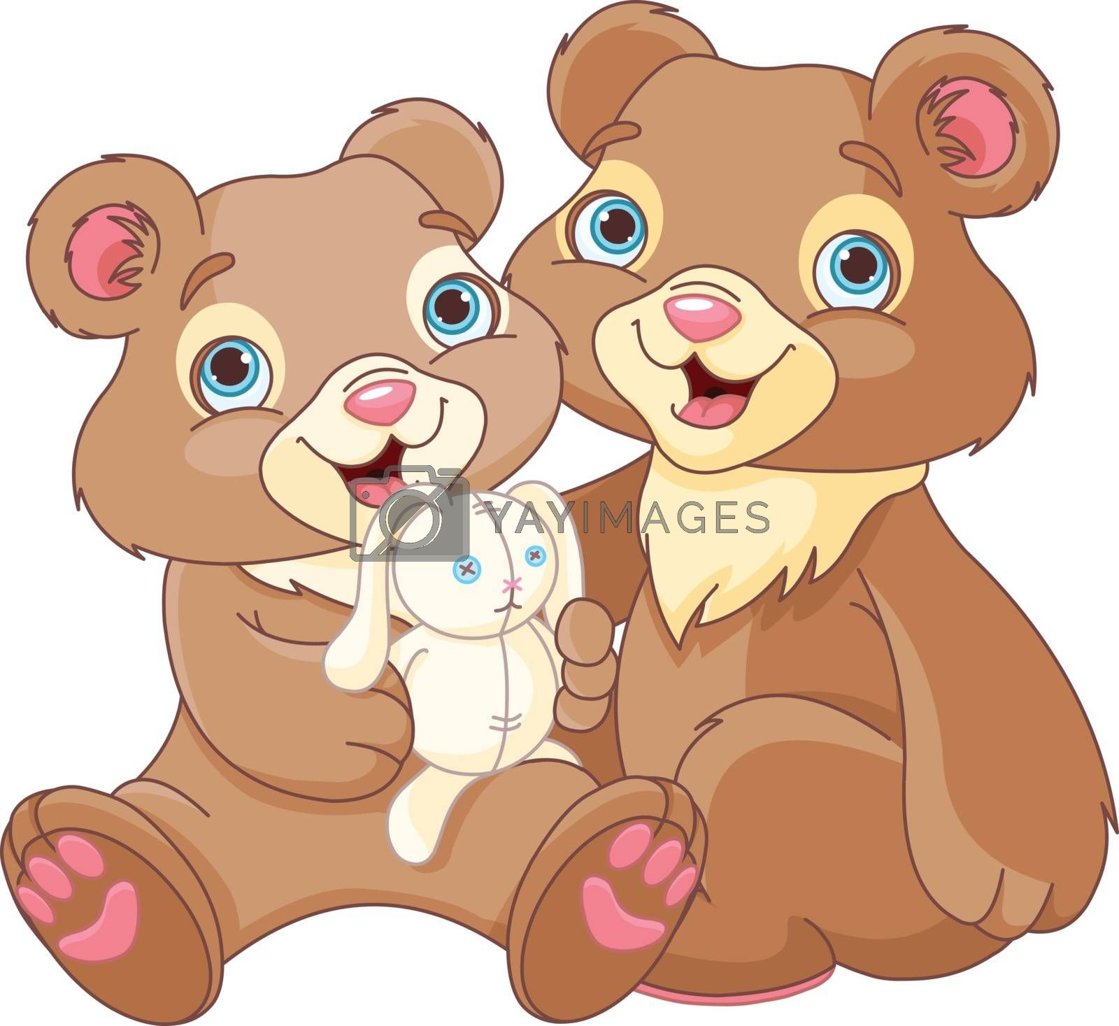 Royalty free image of Bear brothers by Dazdraperma