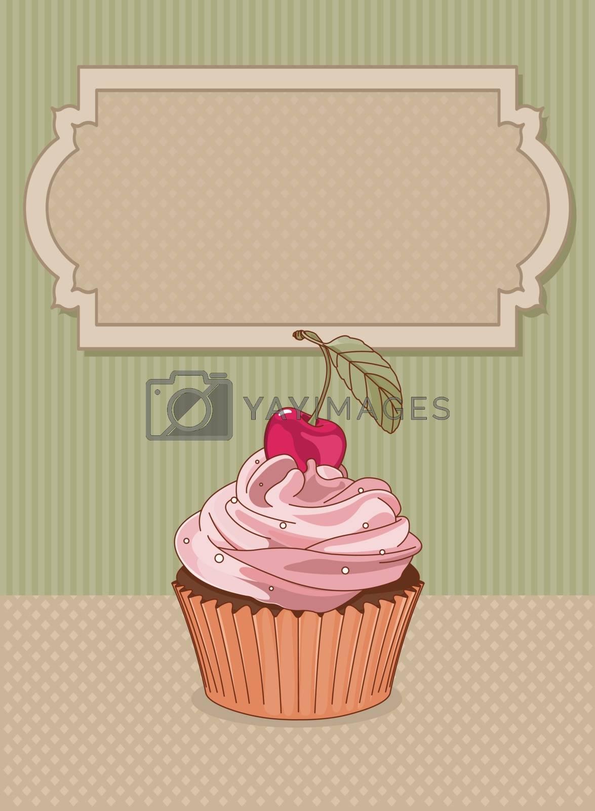 Royalty free image of Cupcake by Dazdraperma