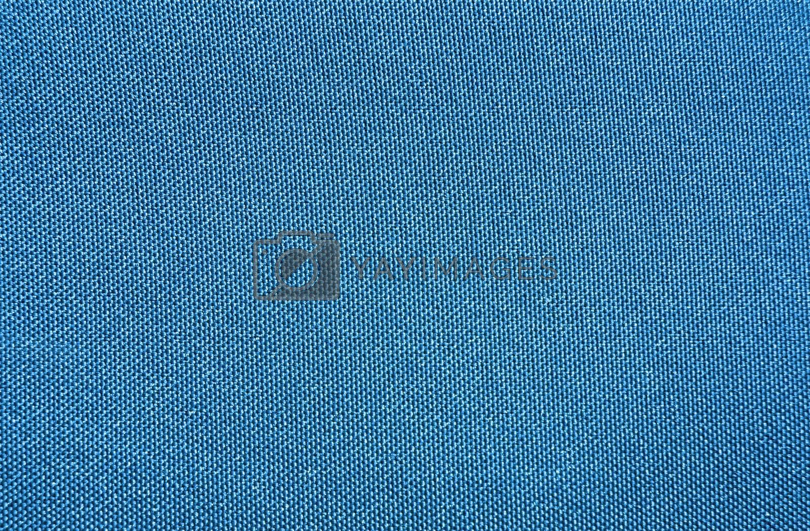 Texture of a blue woven synthetic waterproof fabric by Chiffanna