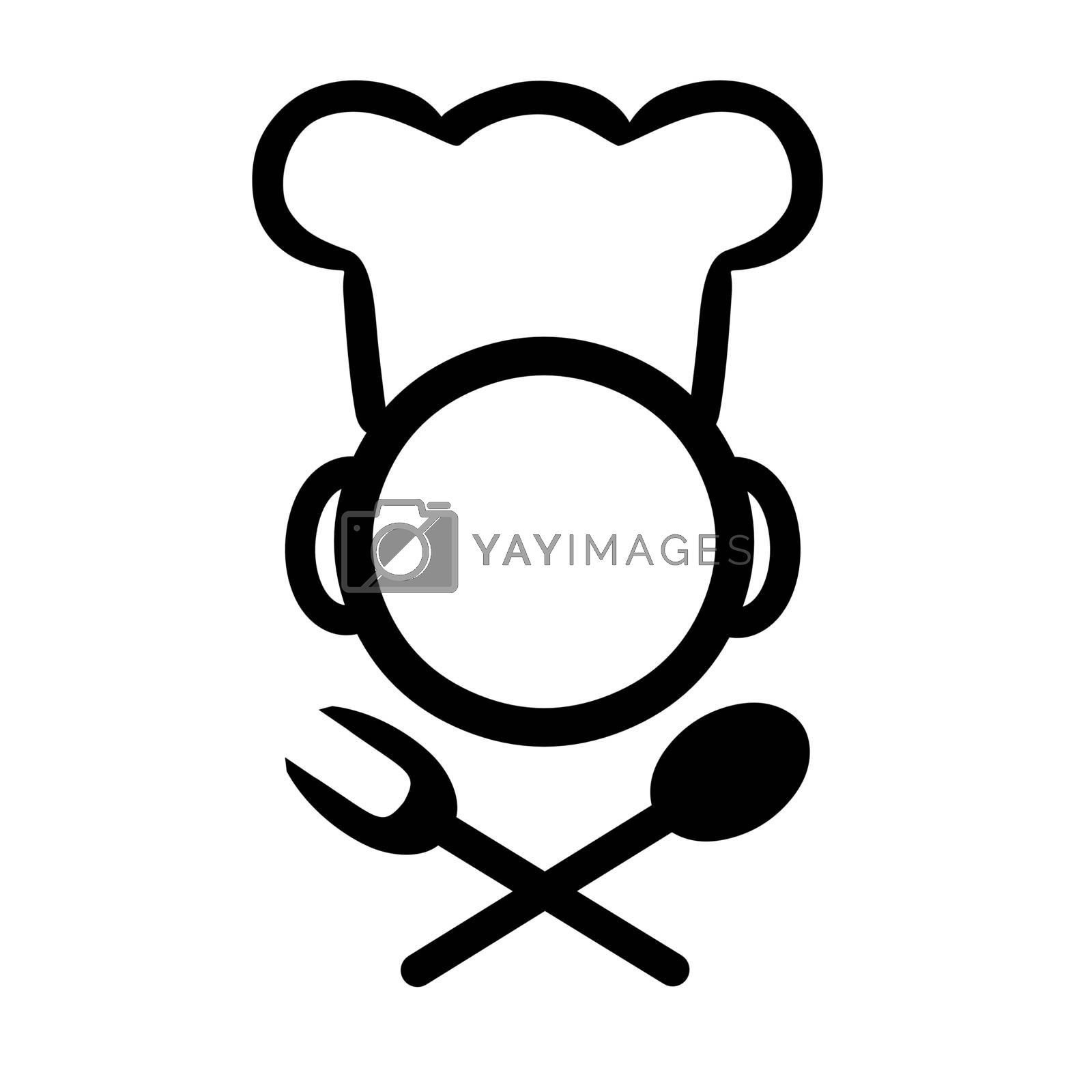 Vector illustration : Chef logo on a white background.
