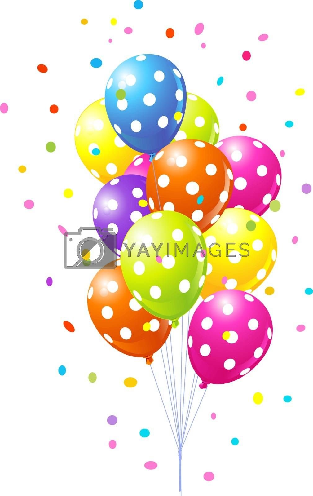 Royalty free image of Bunch of colorful balloons by Dazdraperma