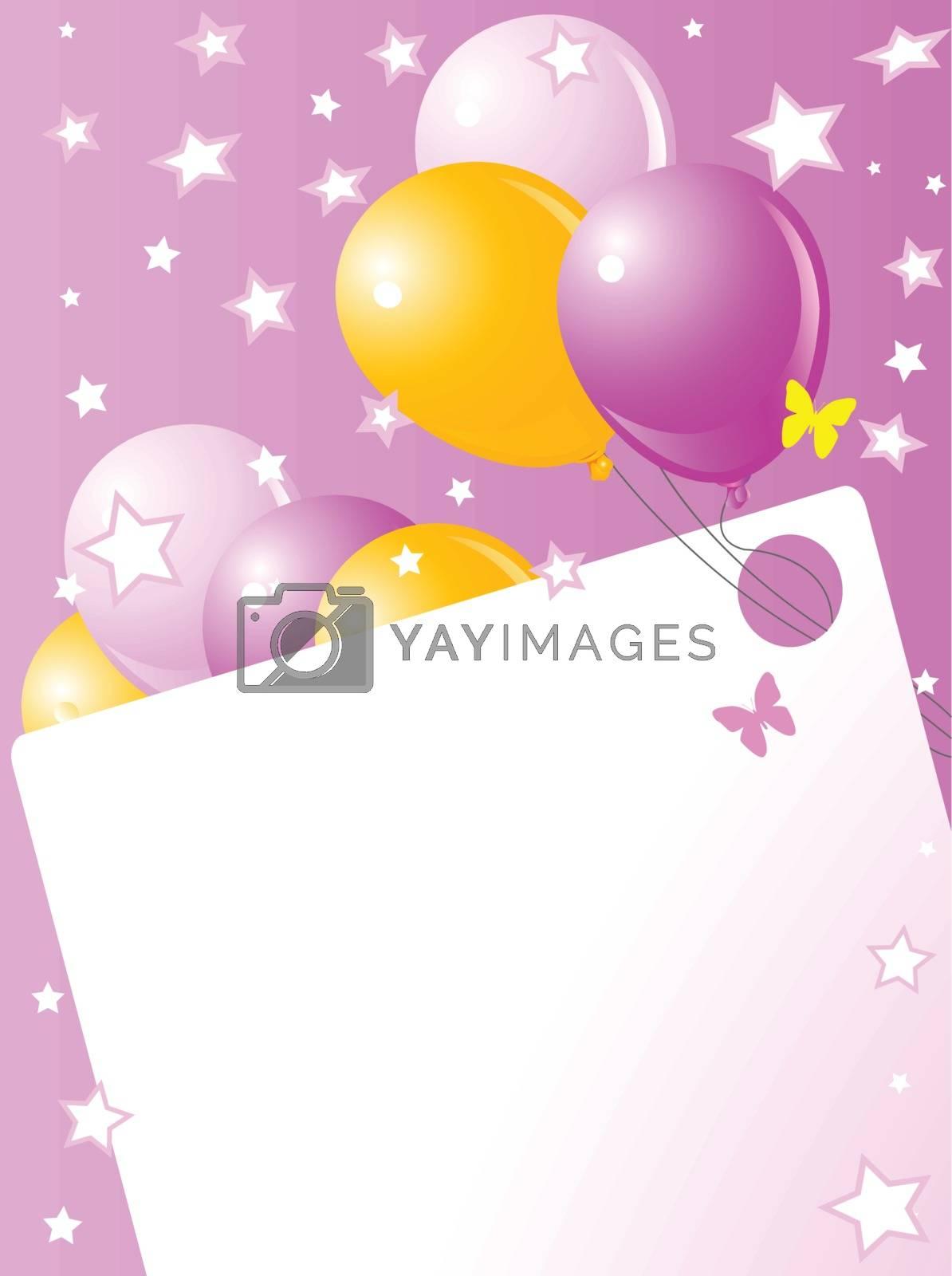 Royalty free image of Pink Birthday card by Dazdraperma