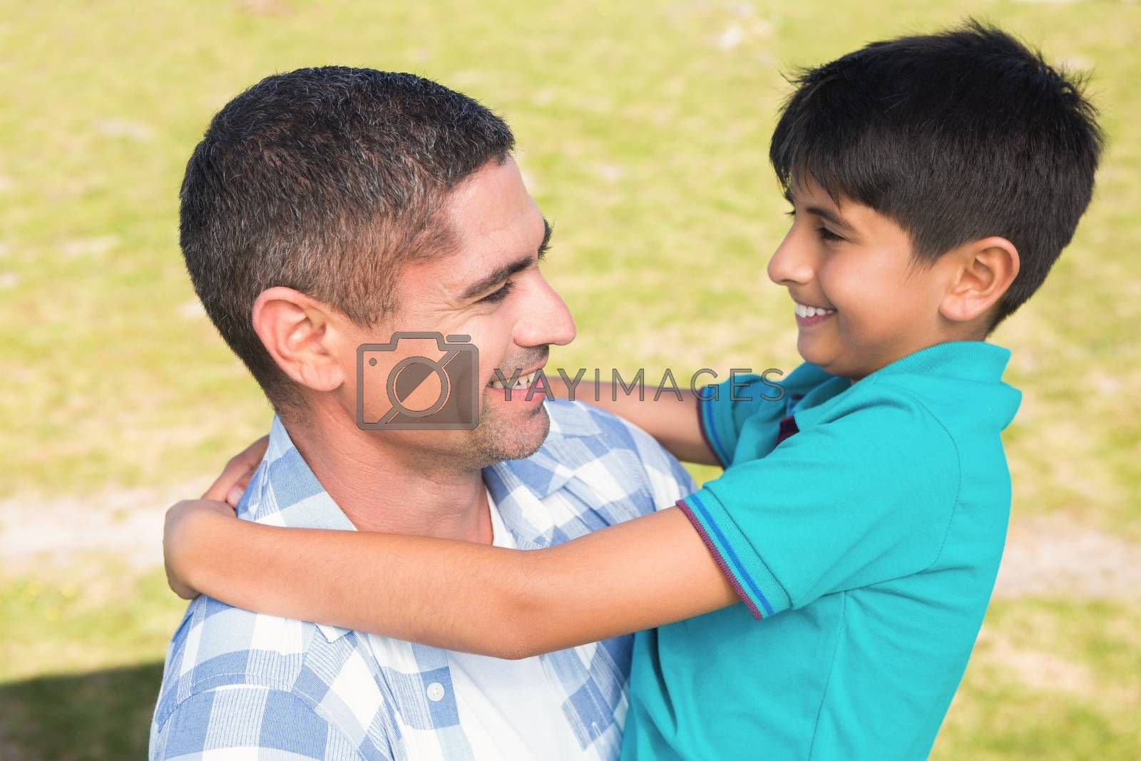 Father and son in the countryside by Wavebreakmedia