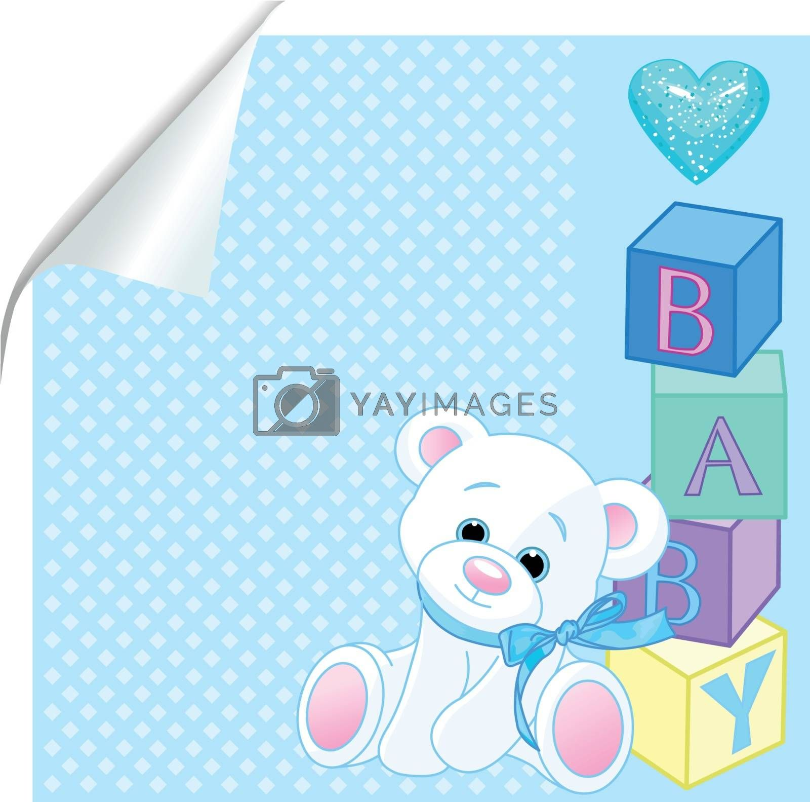 Royalty free image of Baby blue by Dazdraperma