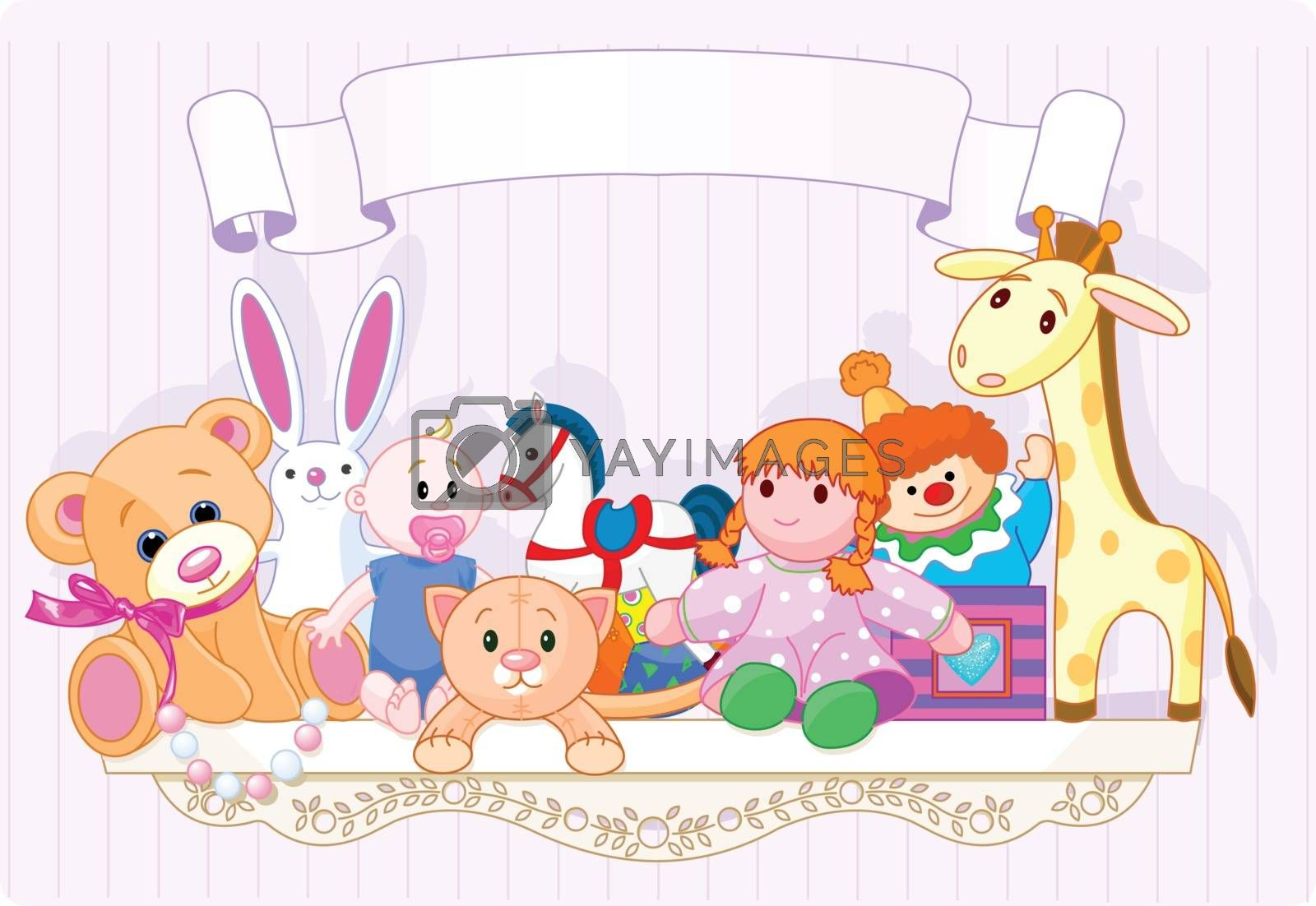 Royalty free image of Pink toy shelf by Dazdraperma