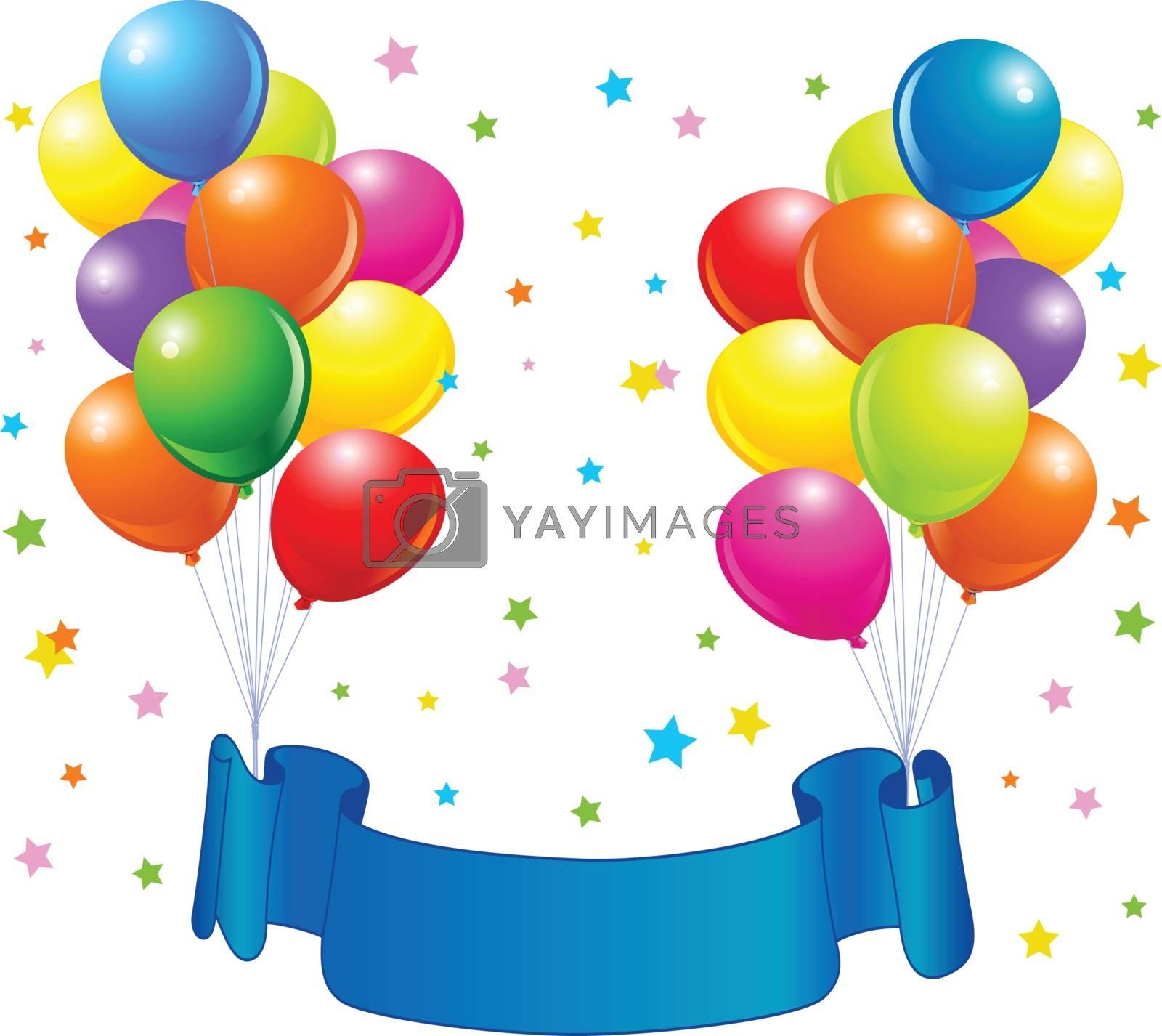 Royalty free image of Birthday balloons design by Dazdraperma